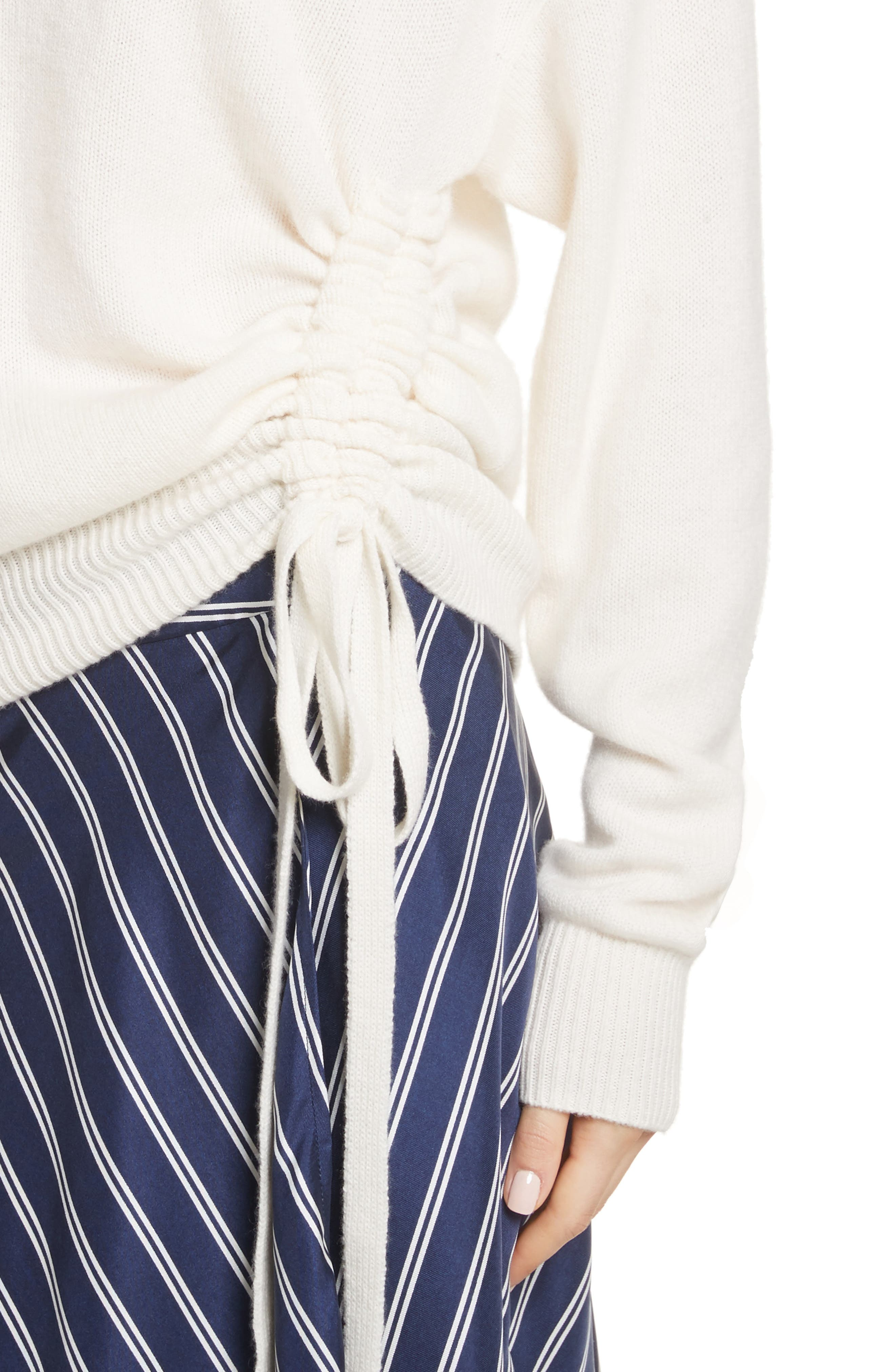 Iphis Wool & Cashmere Sweater,                             Alternate thumbnail 4, color,                             Porcelain