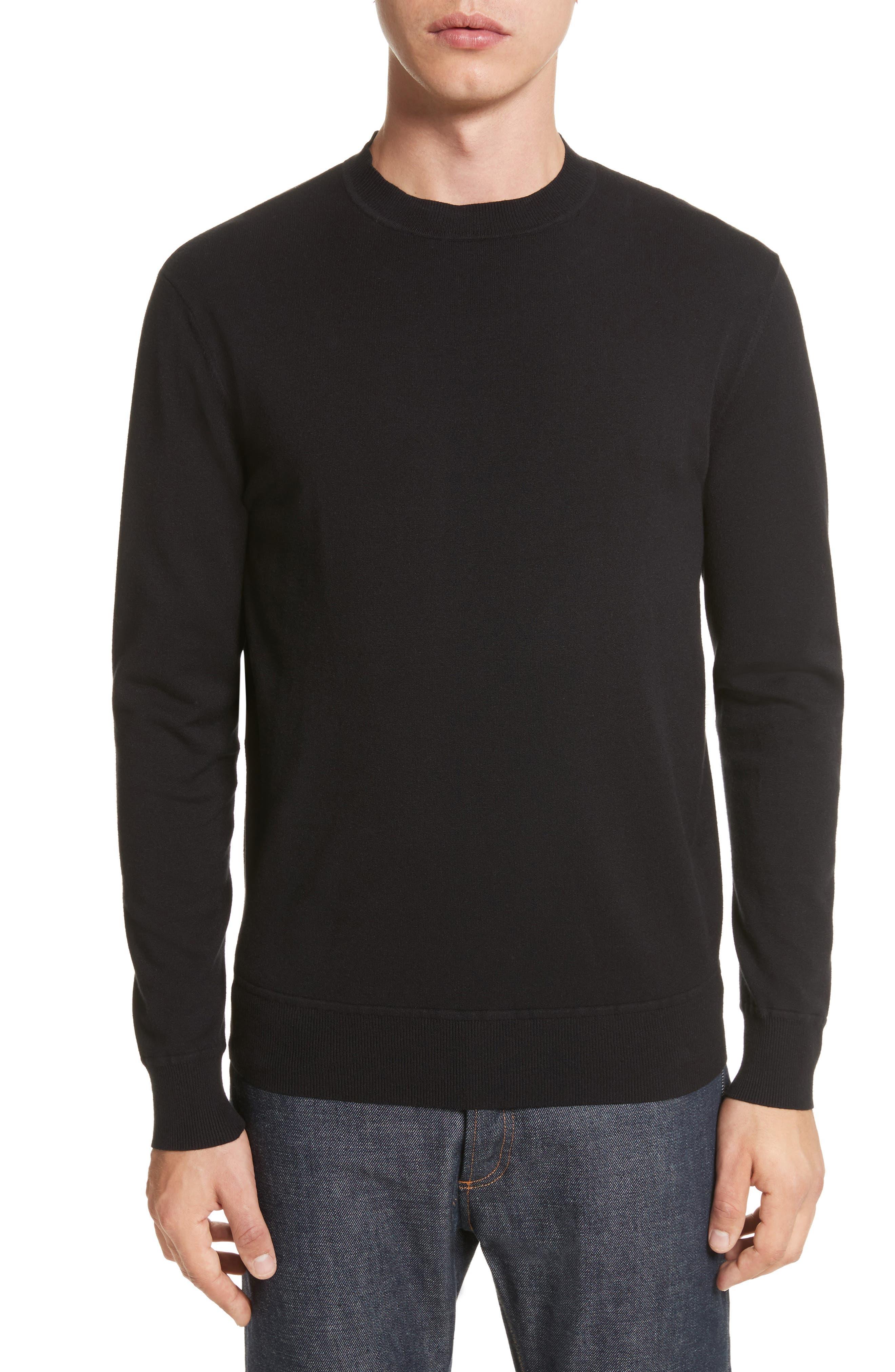 Ronnie Crewneck Sweatshirt,                         Main,                         color, Black