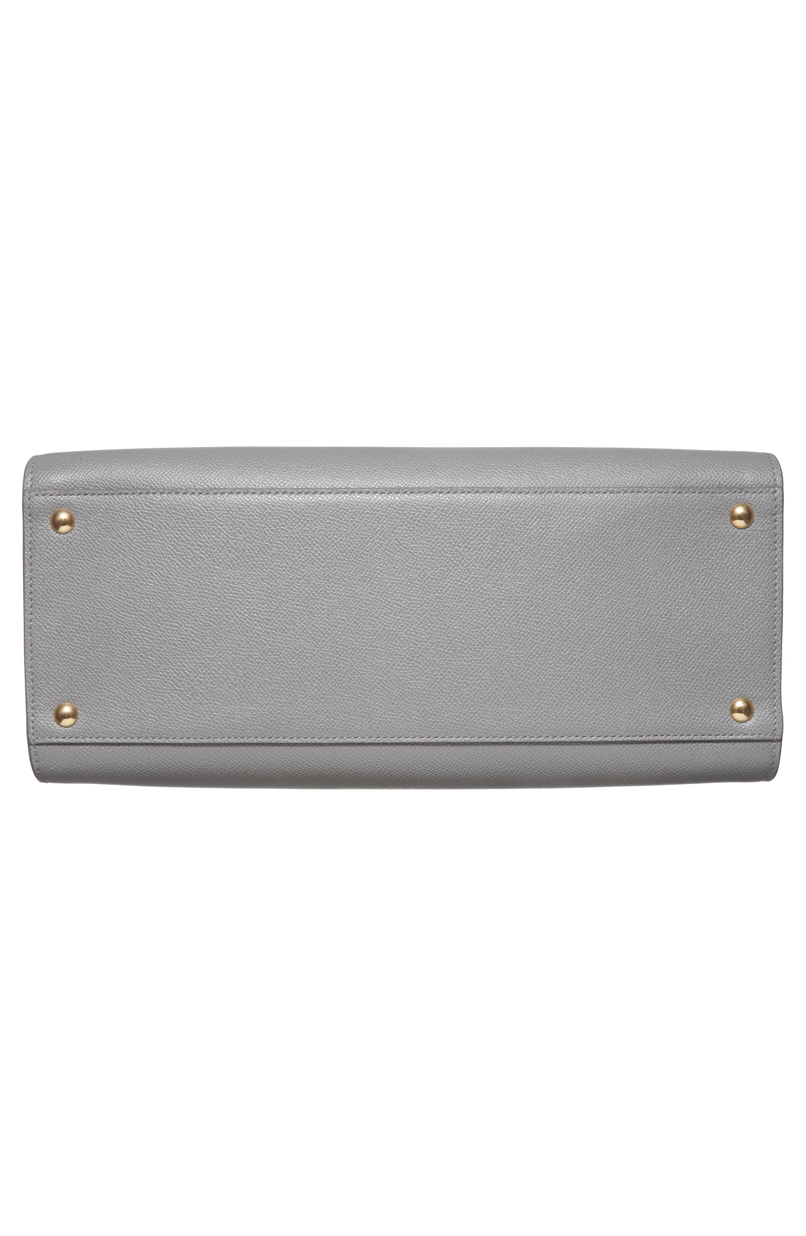 Small Today Leather Satchel,                             Alternate thumbnail 6, color,                             Fossil Grey