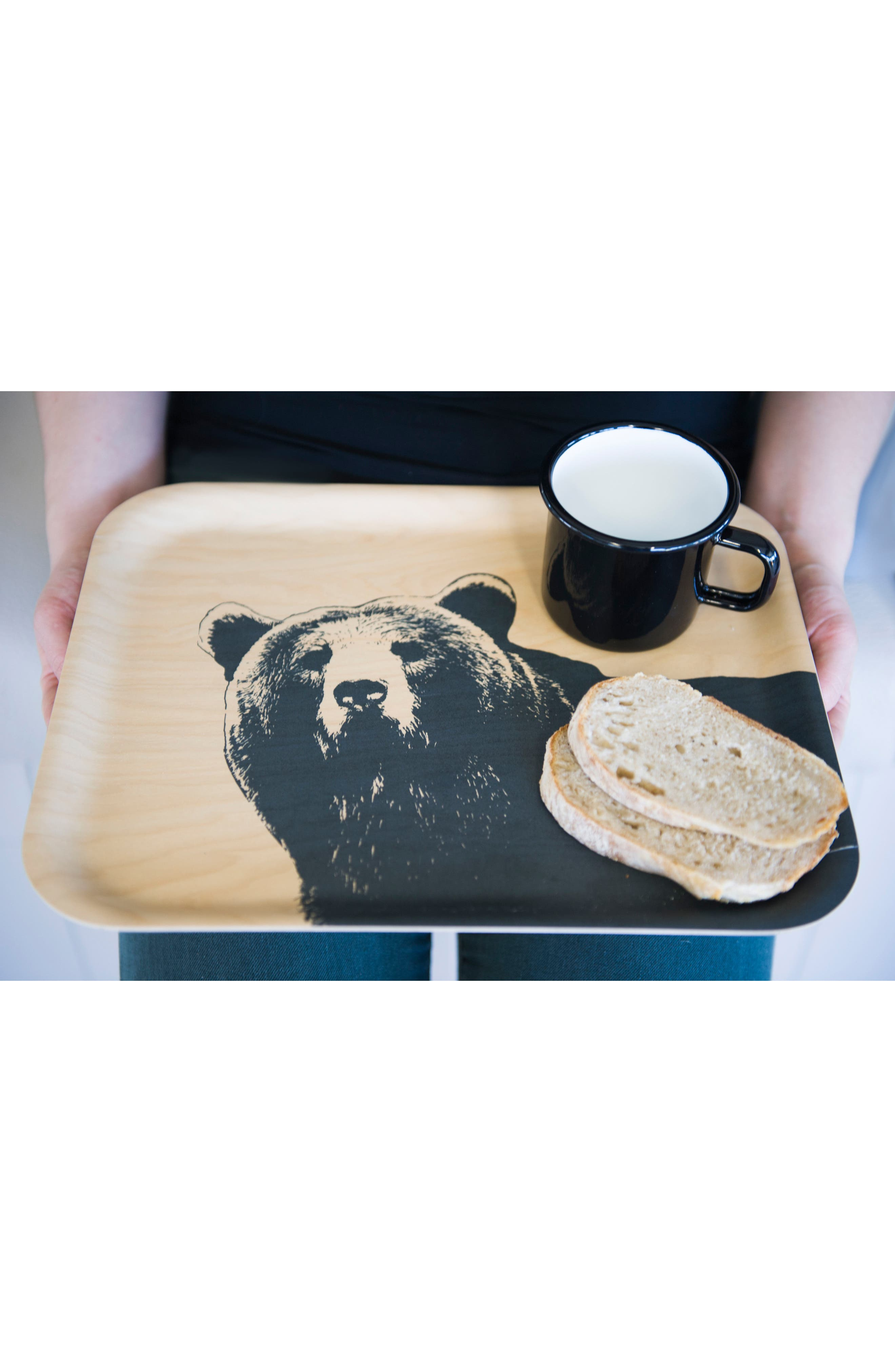 Alternate Image 3  - Muurla Bear Birch & Melamine Serving Tray