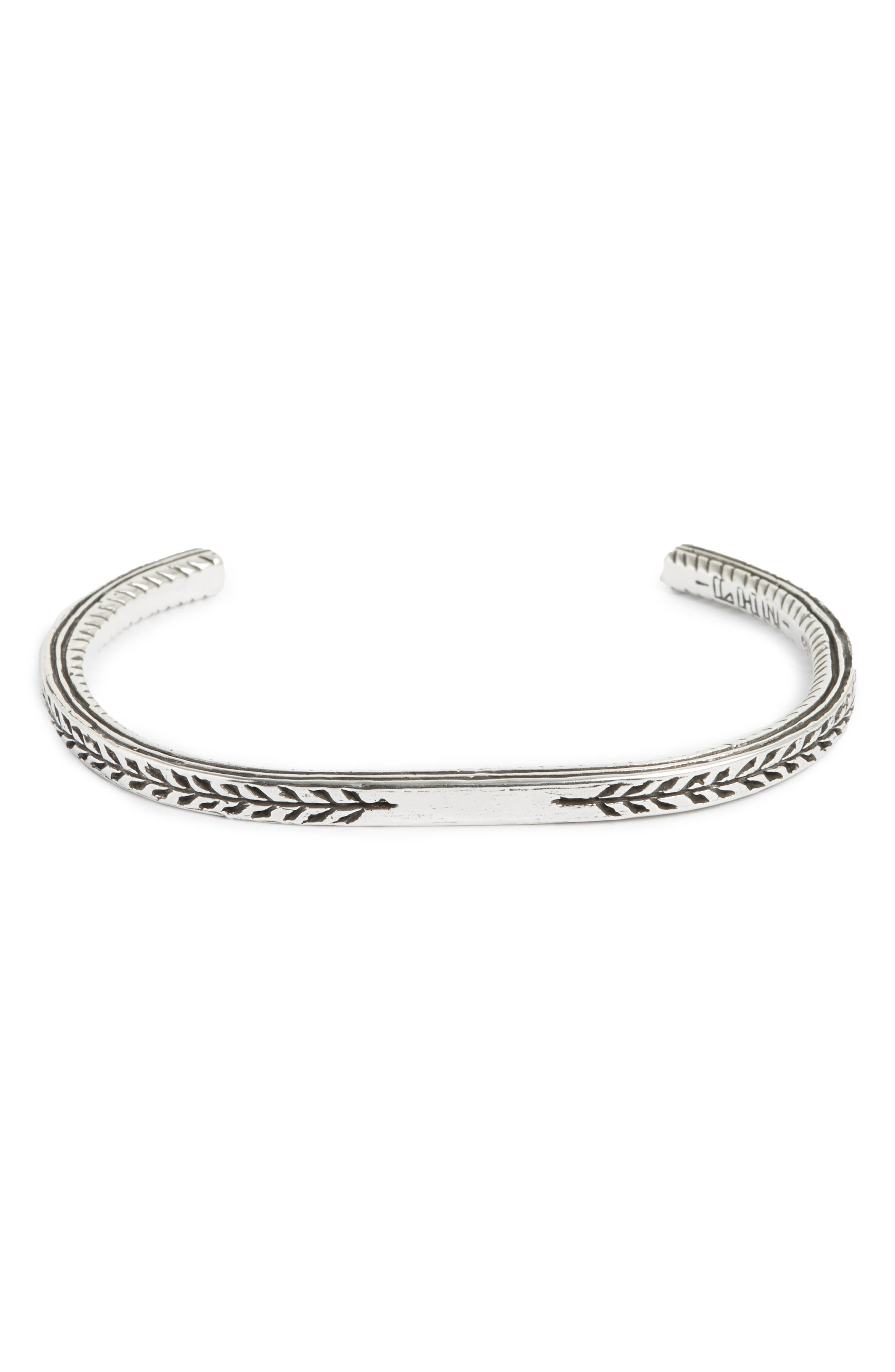 Pantheon Sterling Silver Cuff Bracelet,                             Main thumbnail 1, color,                             Silver