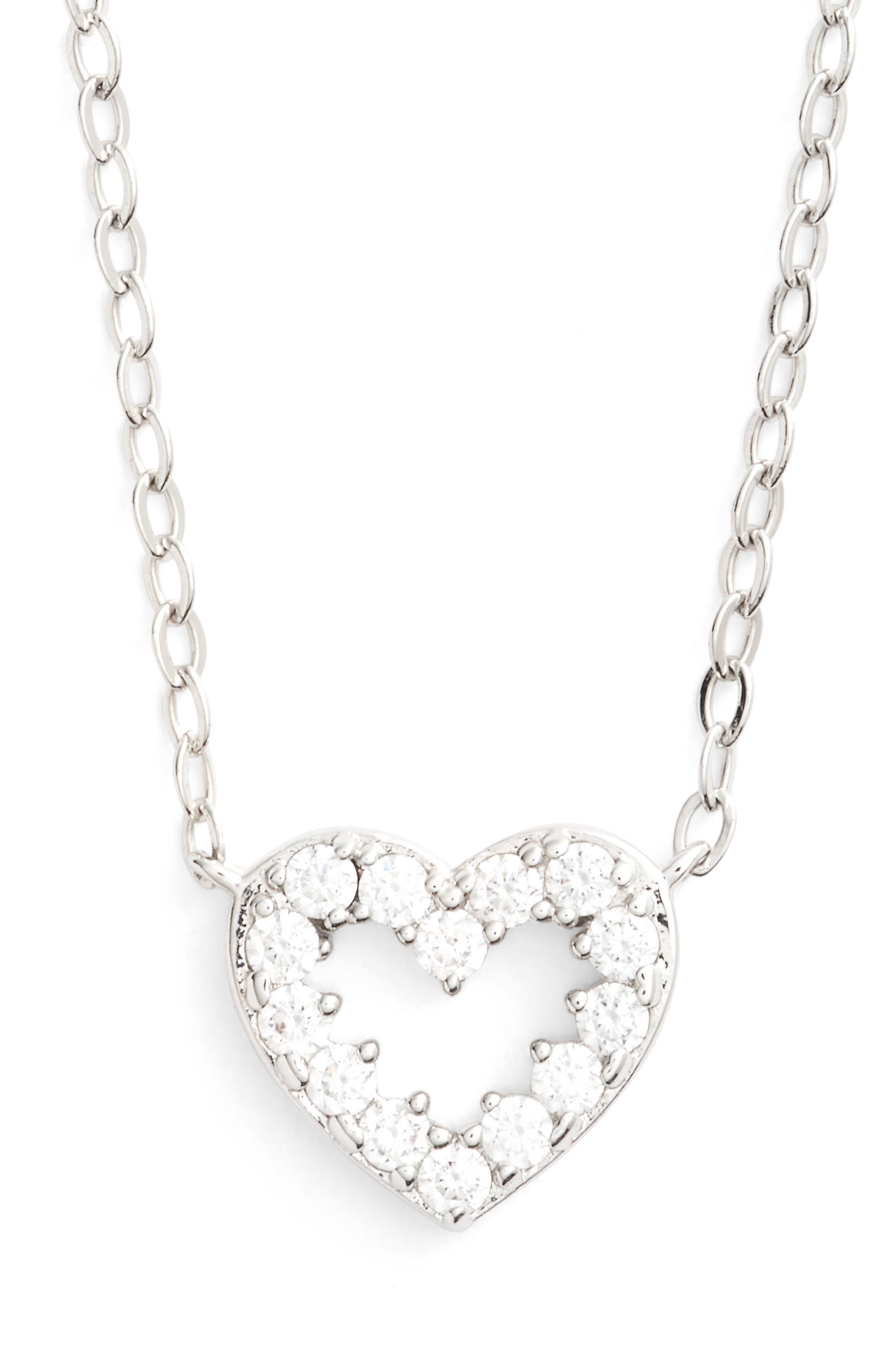 Reminisce Pendant Necklace,                         Main,                         color, Rhodium