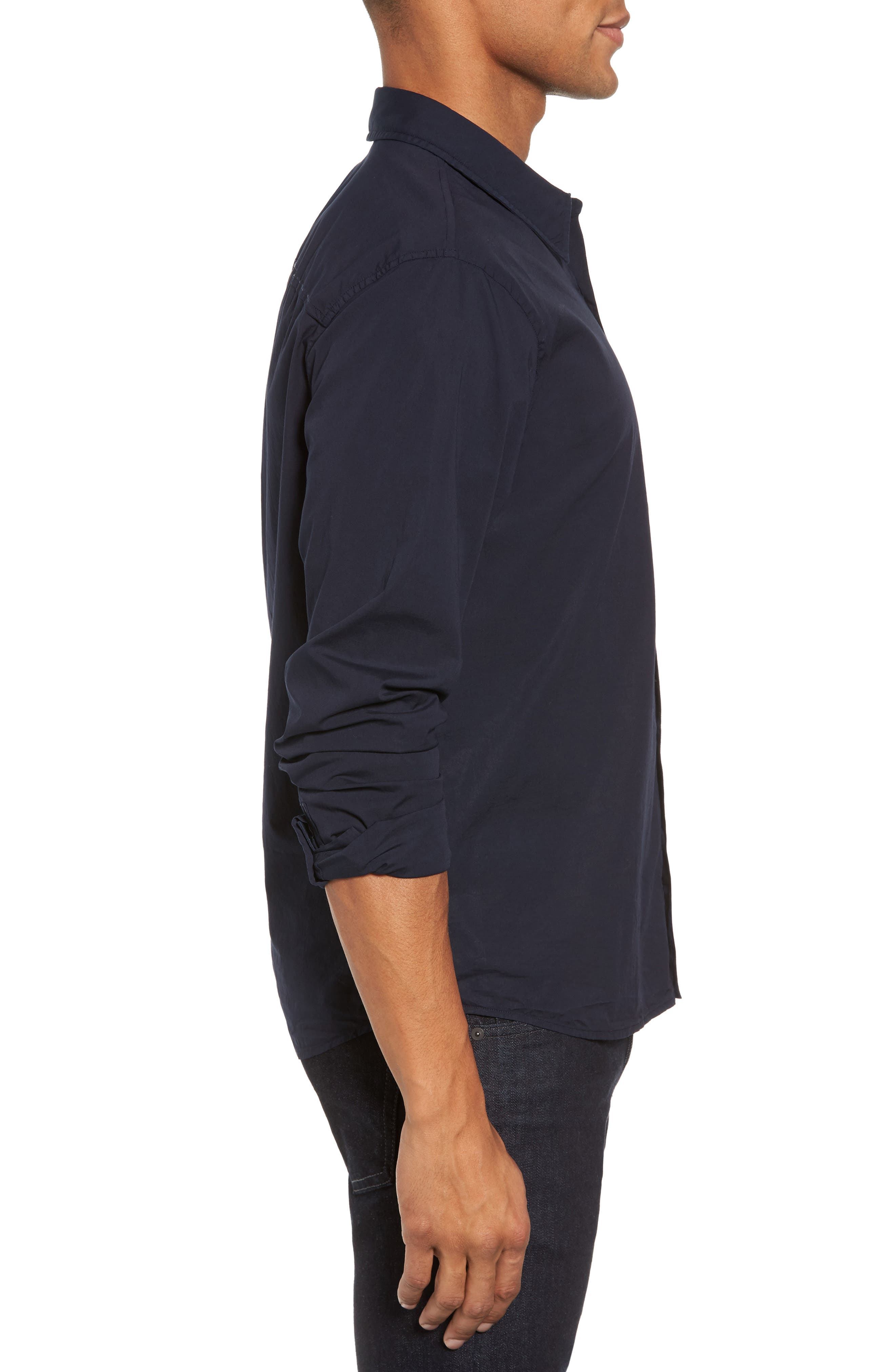 Relaxed Fit Sport Shirt,                             Alternate thumbnail 3, color,                             Blue Ink