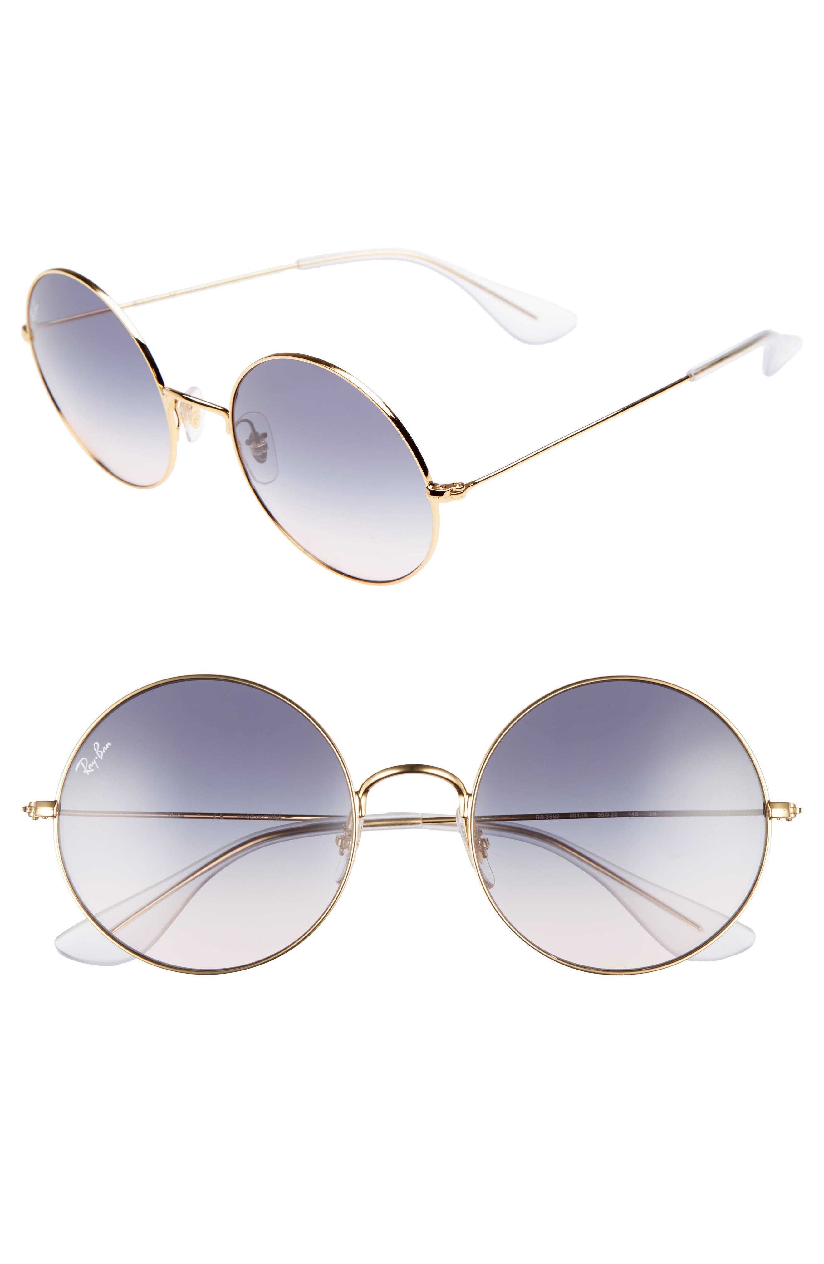 The Ja-Jo 54mm Round Sunglasses,                             Main thumbnail 1, color,                             Blue Gradient