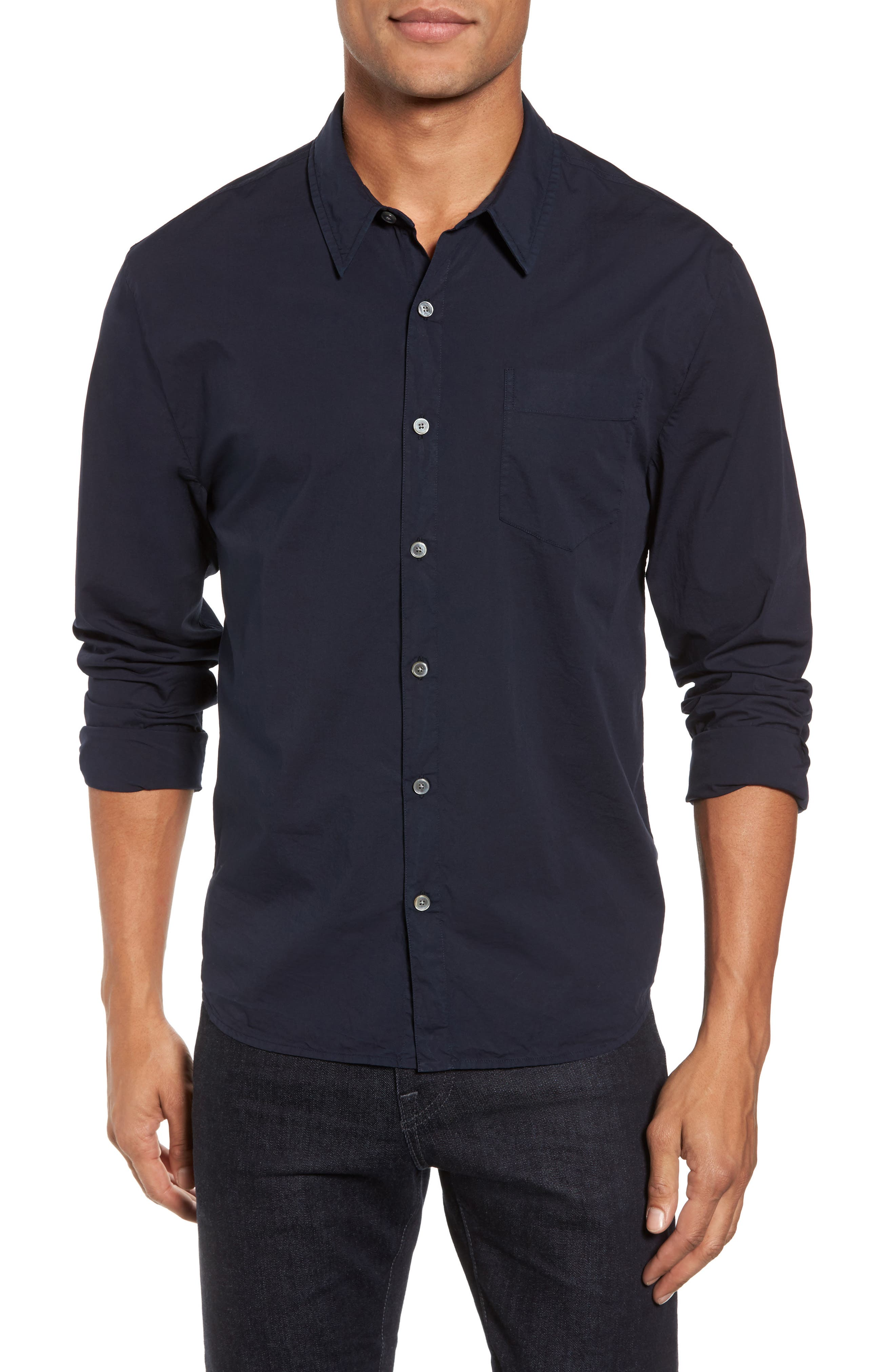 Relaxed Fit Sport Shirt,                         Main,                         color, Blue Ink