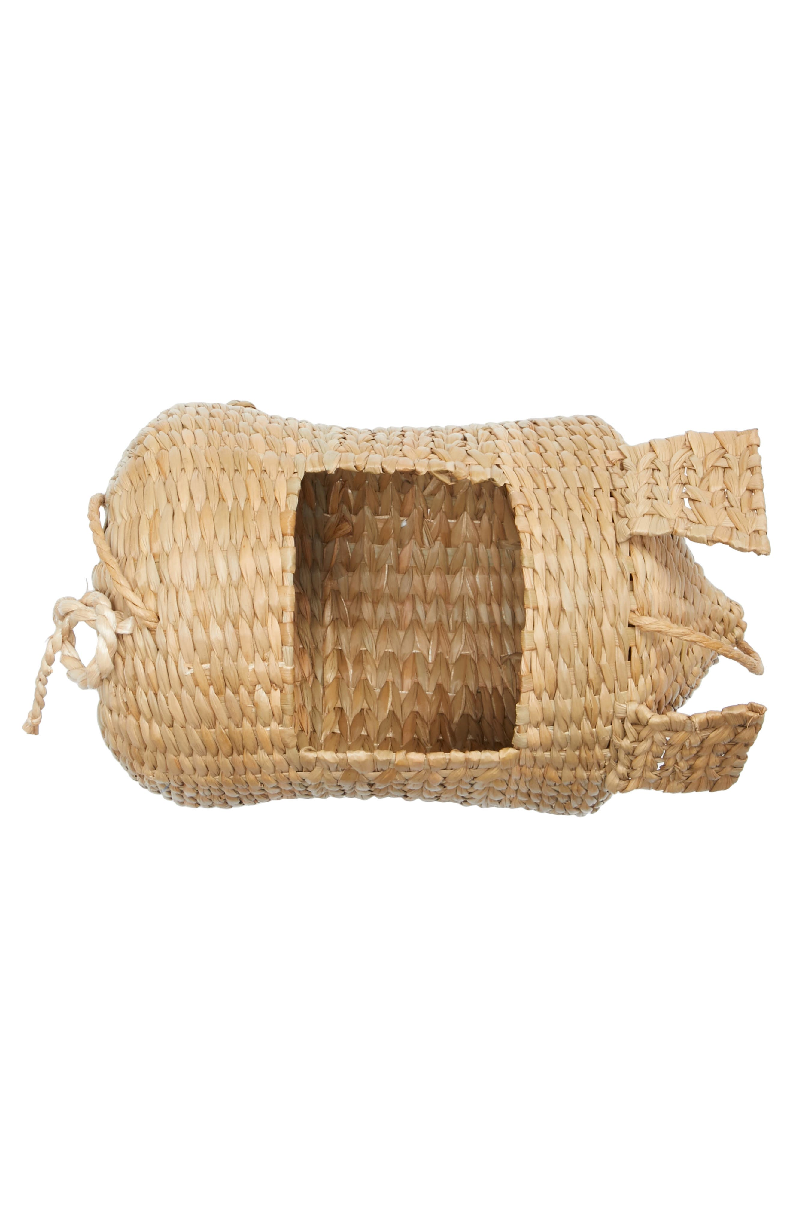 The Babe Straw Bag,                             Alternate thumbnail 4, color,                             Natural