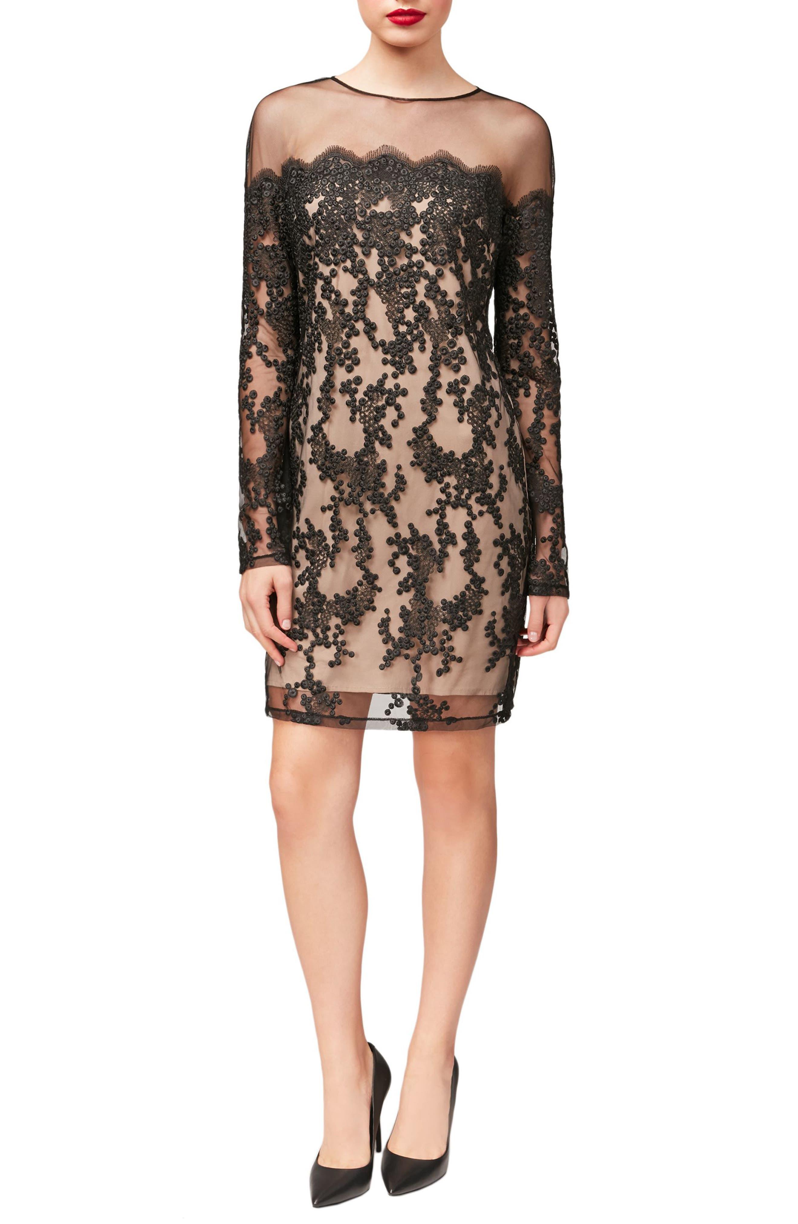 Main Image - Betsey Johnson Lace Sheath Dress