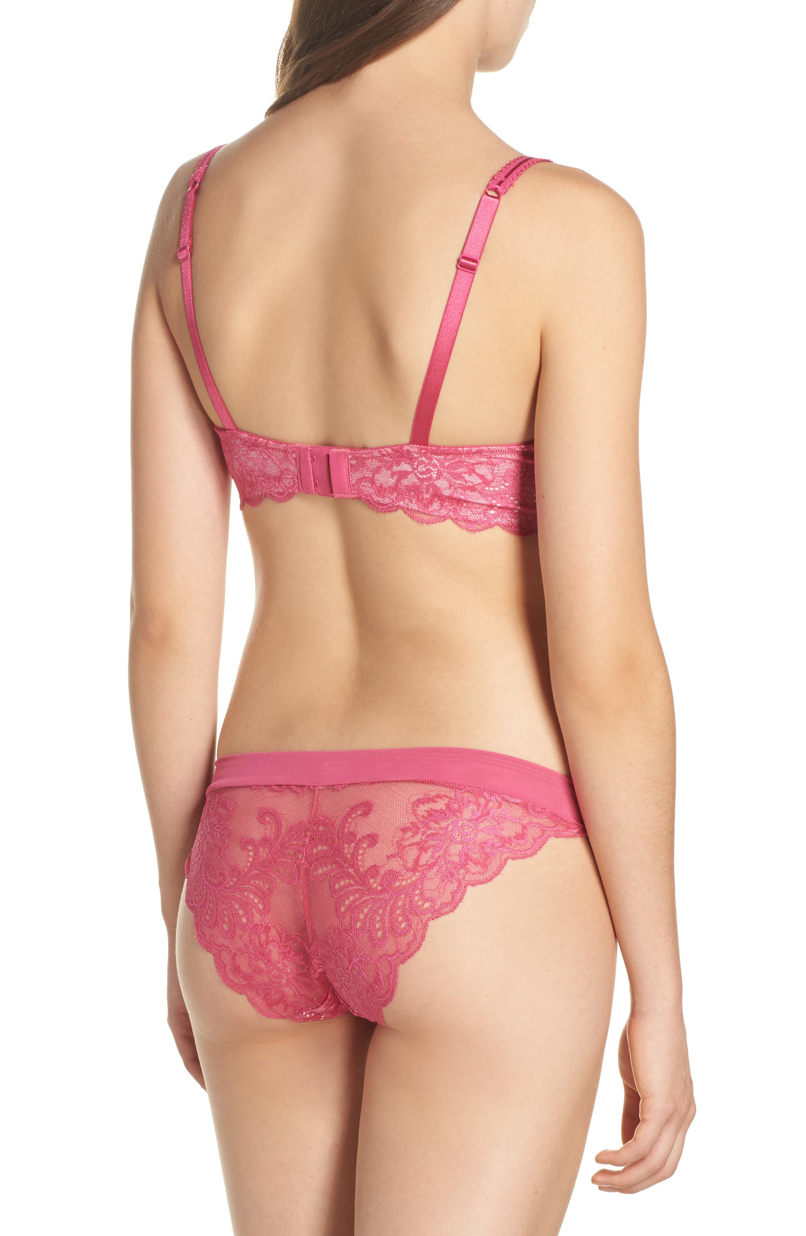 'Sophia'  Lace Underwire Bra,                             Alternate thumbnail 3, color,                             Mademoiselle