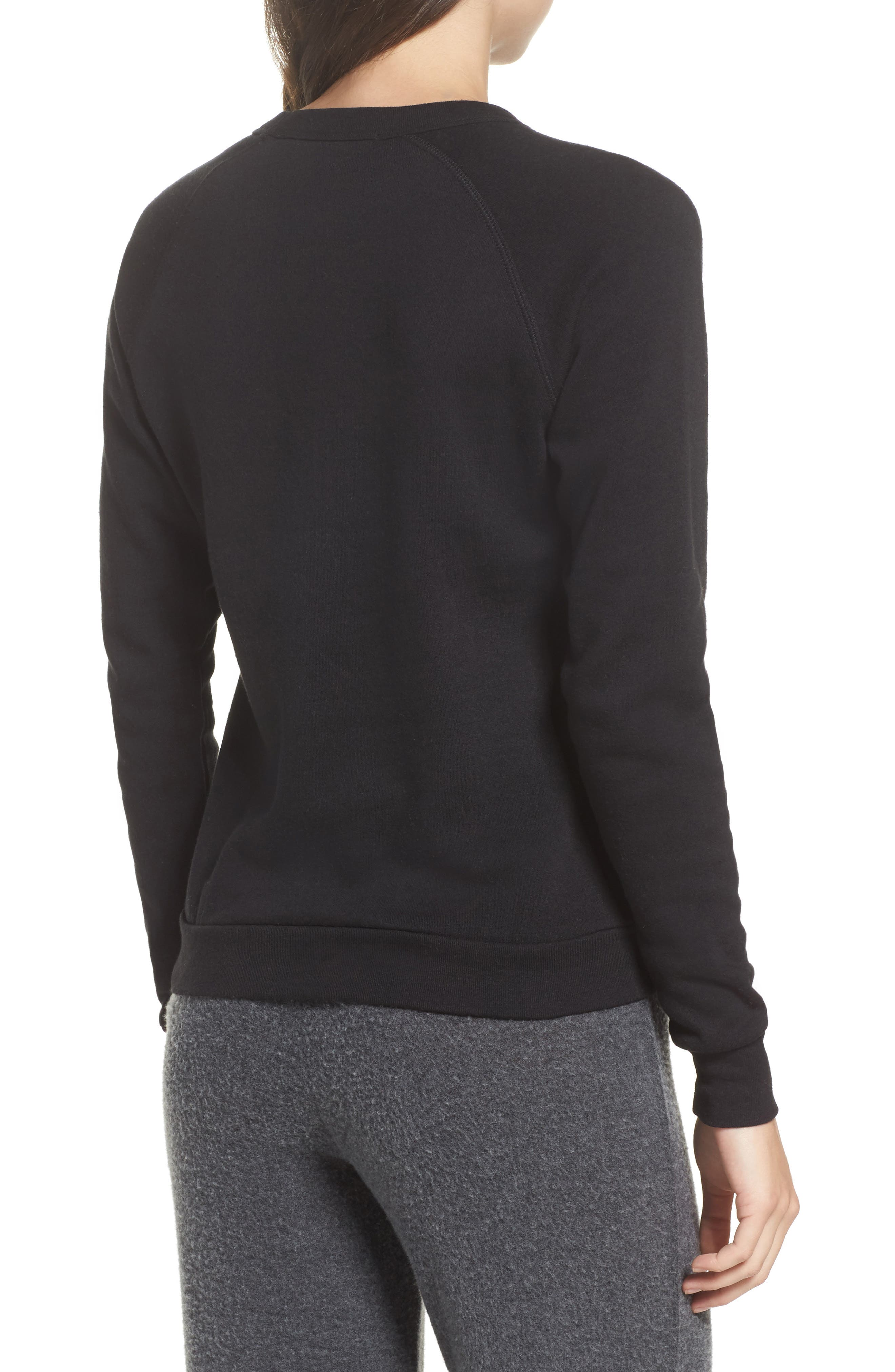In Pizza We Crust French Terry Sweatshirt,                             Alternate thumbnail 2, color,                             Black