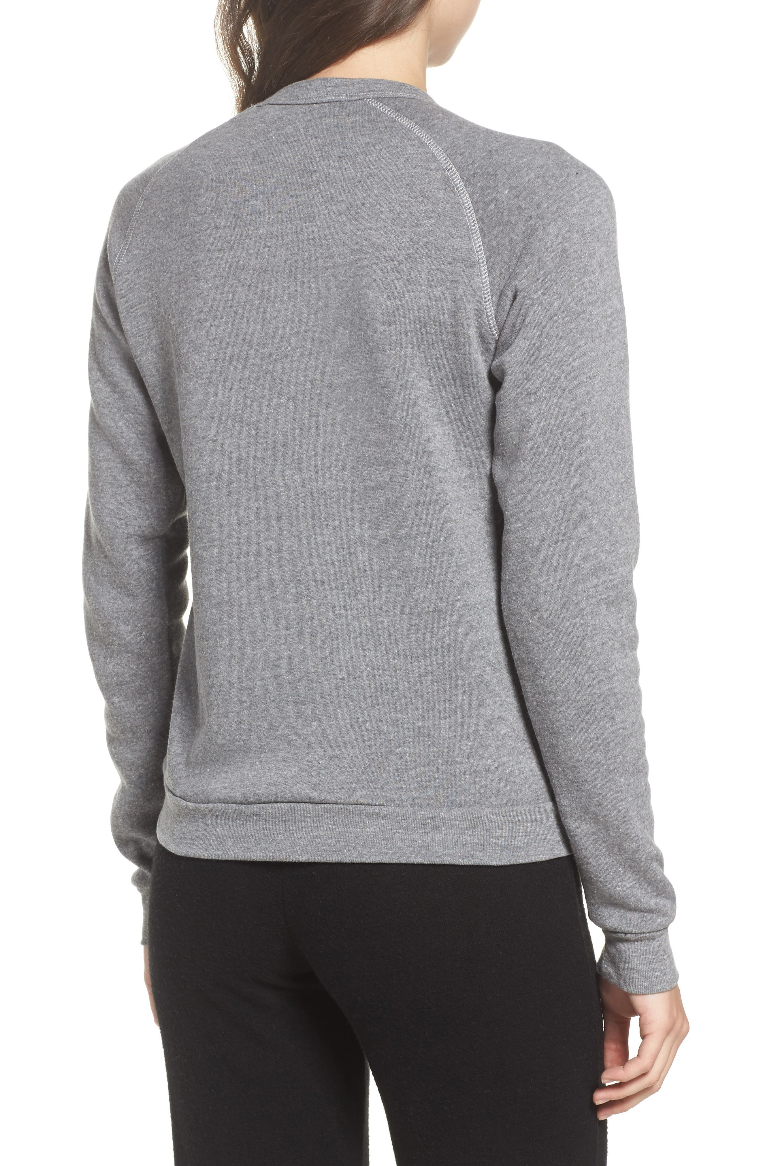 The Future is Female French Terry Sweatshirt,                             Alternate thumbnail 2, color,                             Heather Grey