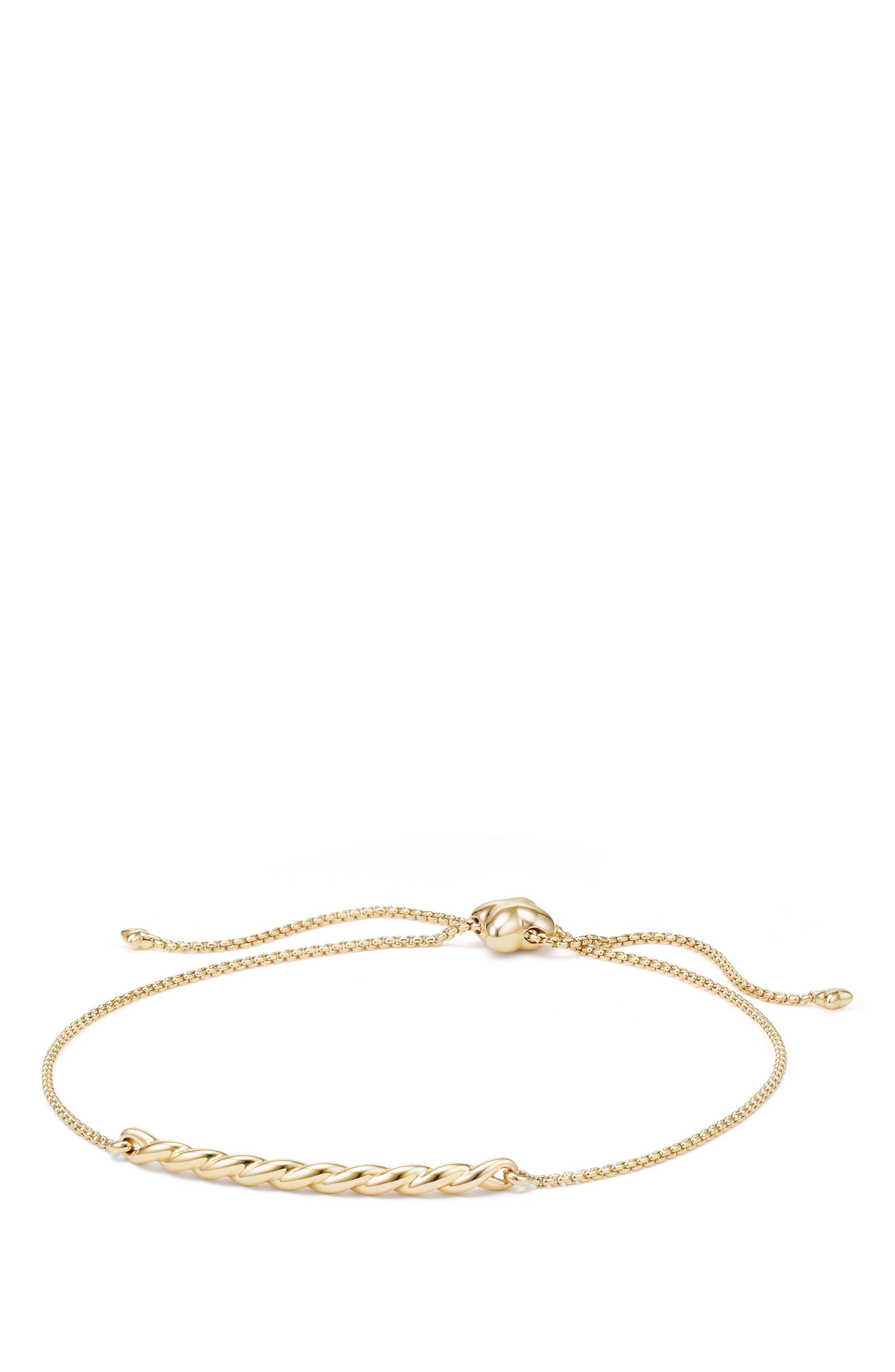 Paveflex Station Bracelet in 18K Gold,                             Main thumbnail 1, color,                             Yellow Gold