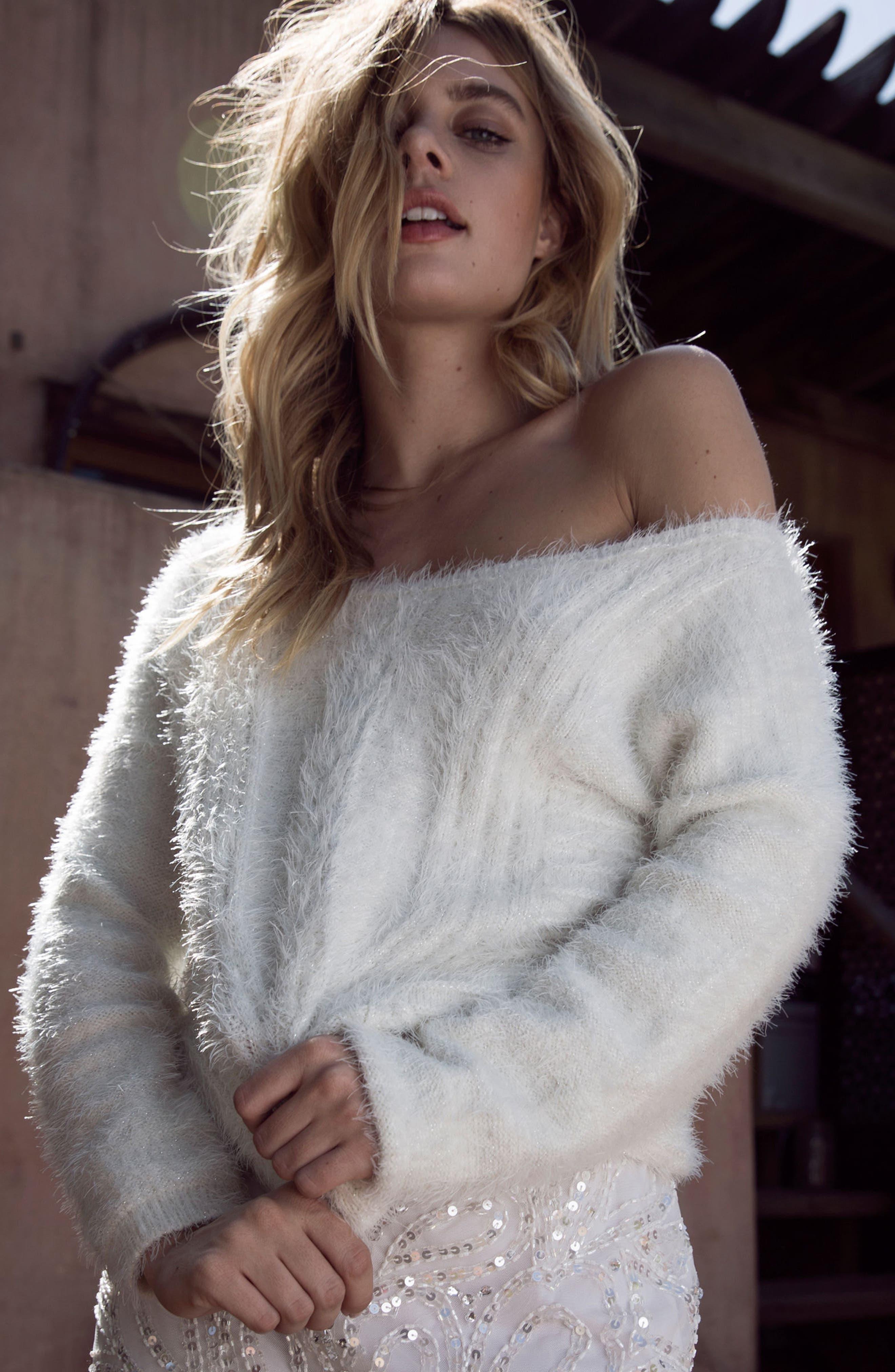 Alternate Image 6  - Raga Emily Eyelash Knit Sweater