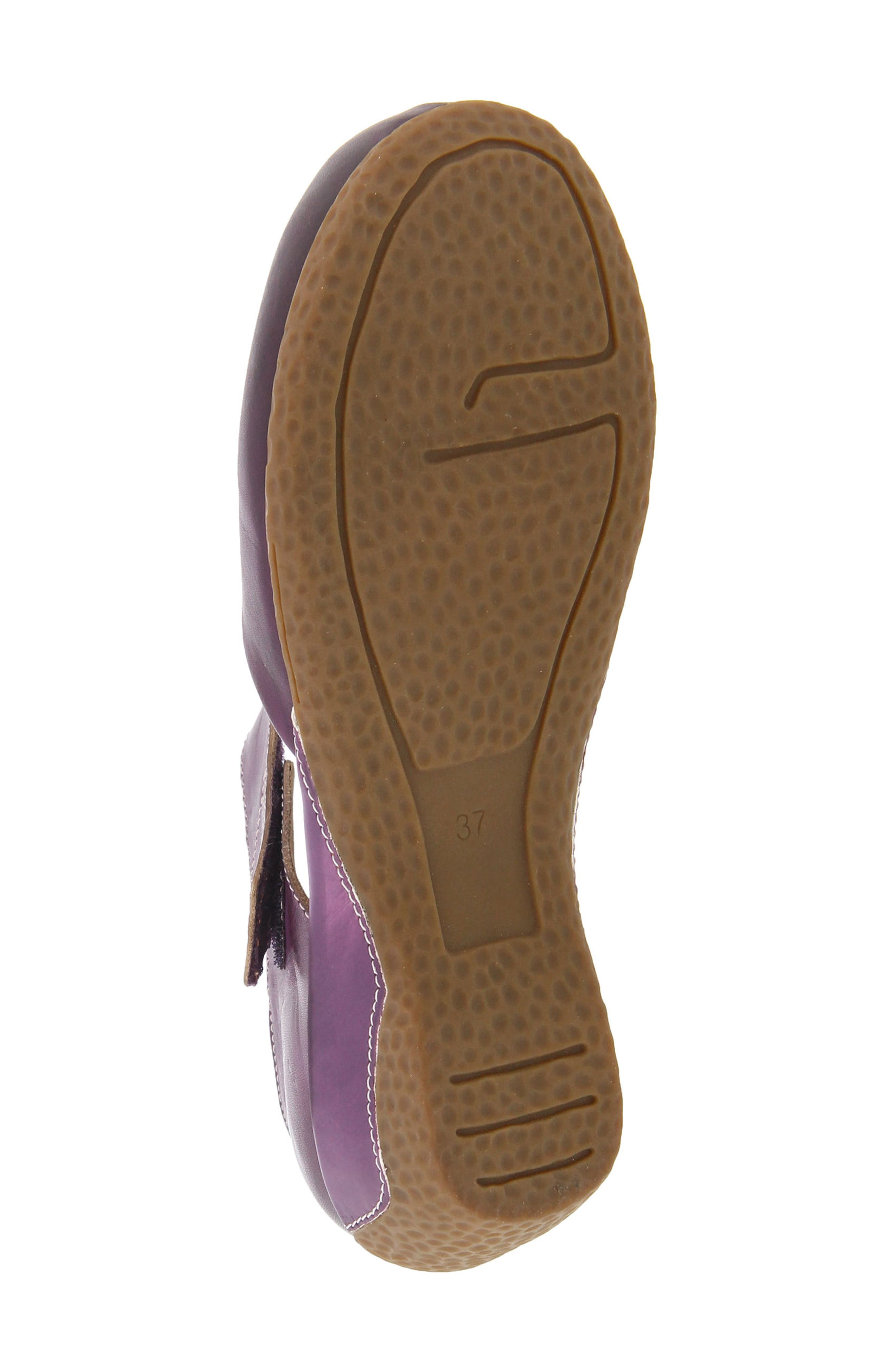 L'Artiste Gloss Mary Jane Pump,                             Alternate thumbnail 5, color,                             Purple Leather