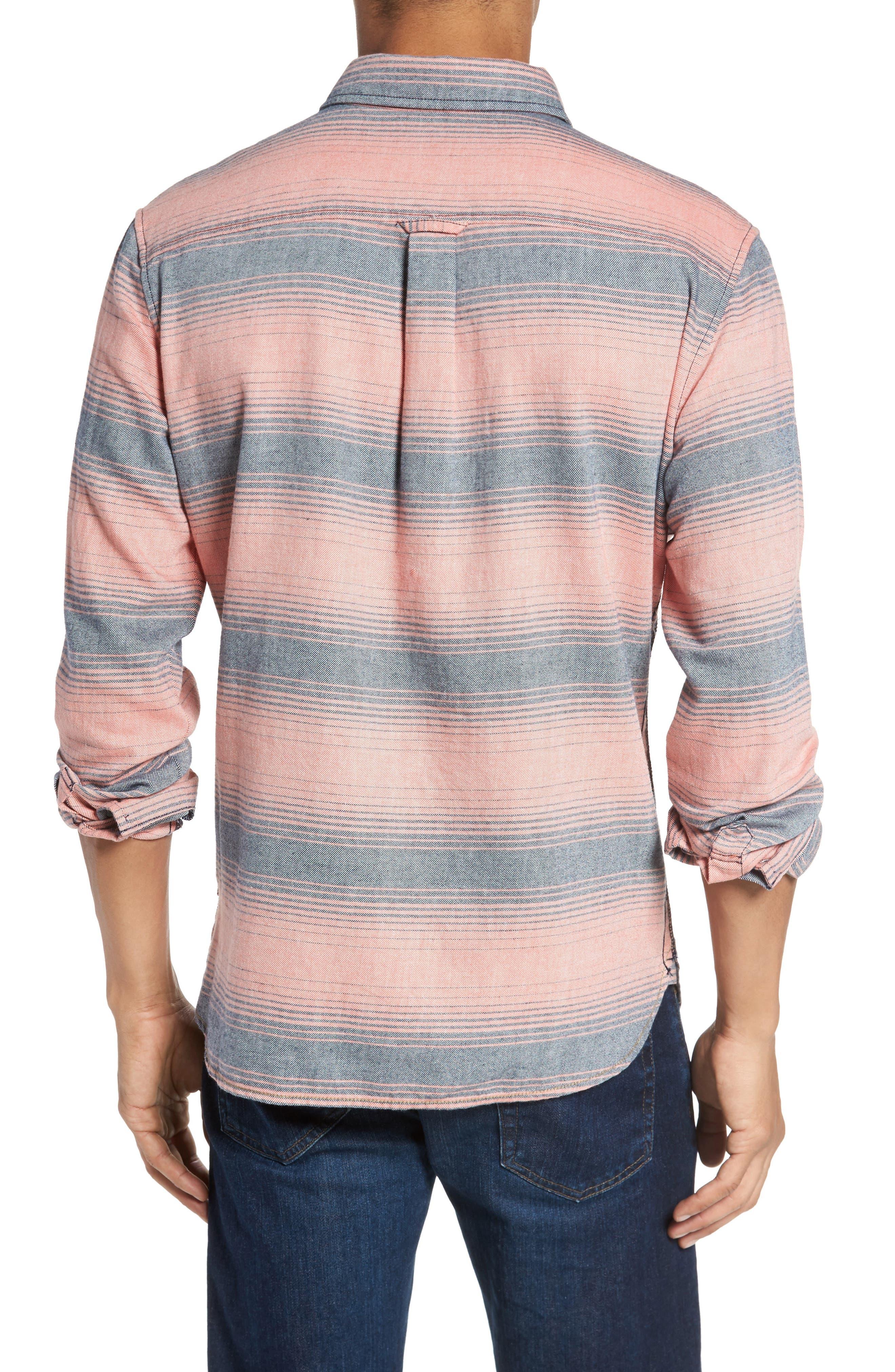Alternate Image 2  - Surfside Supply Brushed Stripe Sport Shirt