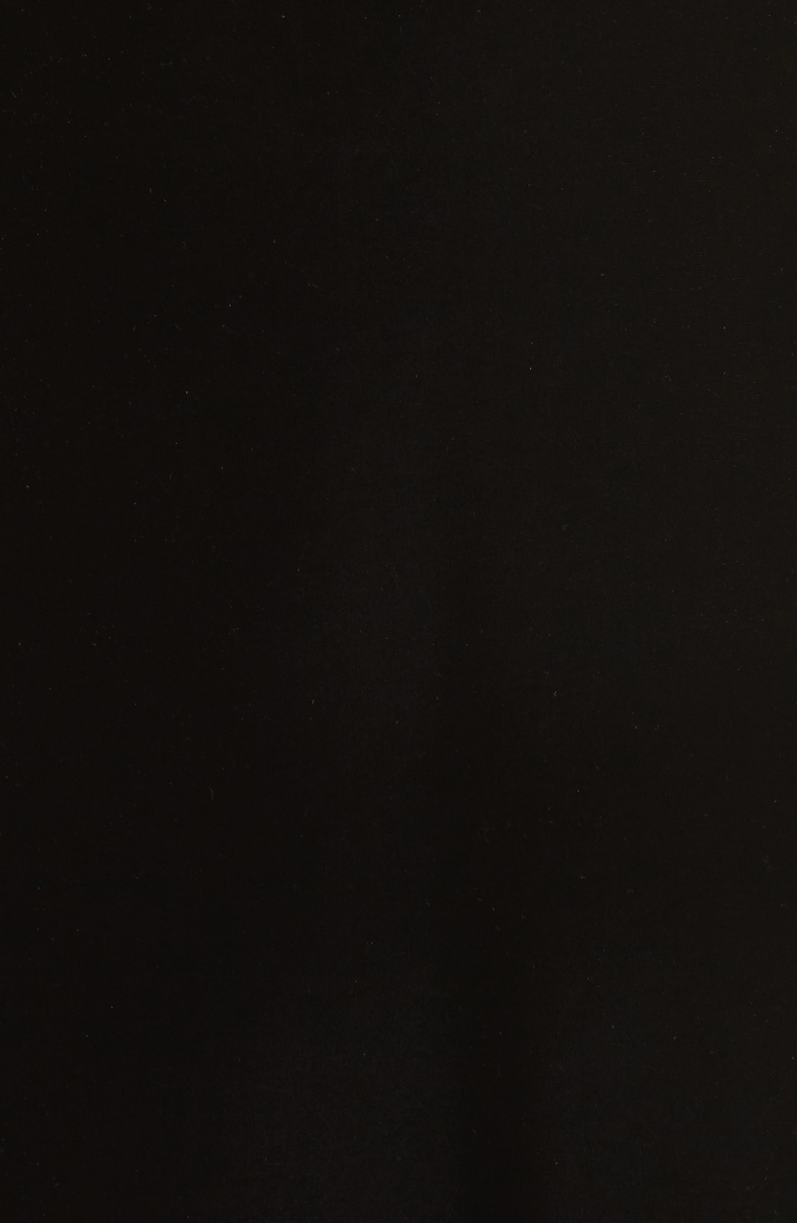 Illusion Inset Velvet Trumpet Gown,                             Alternate thumbnail 5, color,                             Black
