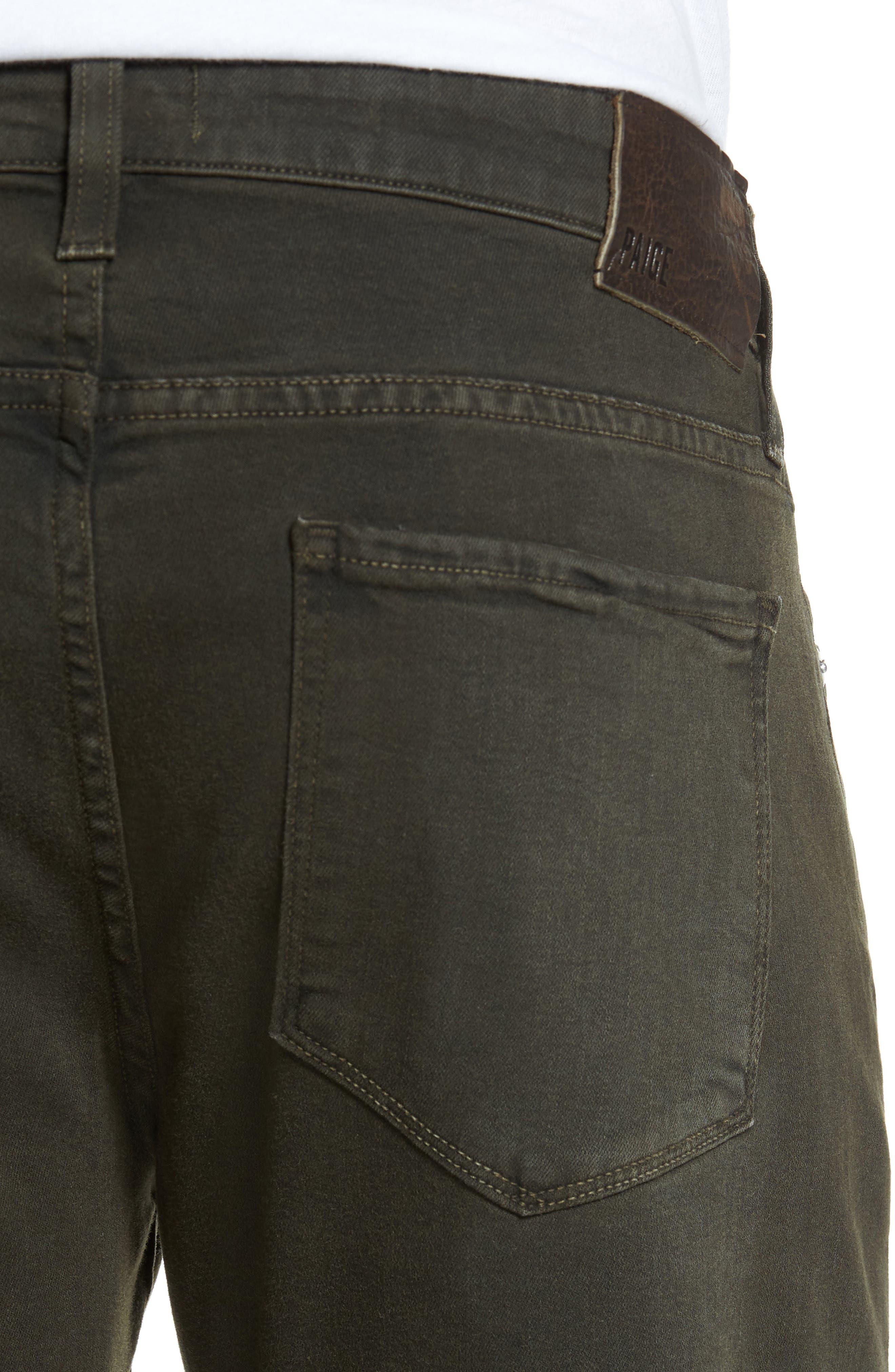 Alternate Image 4  - PAIGE Transcend - Federal Slim Straight Leg Jeans (Vintage Juniper)