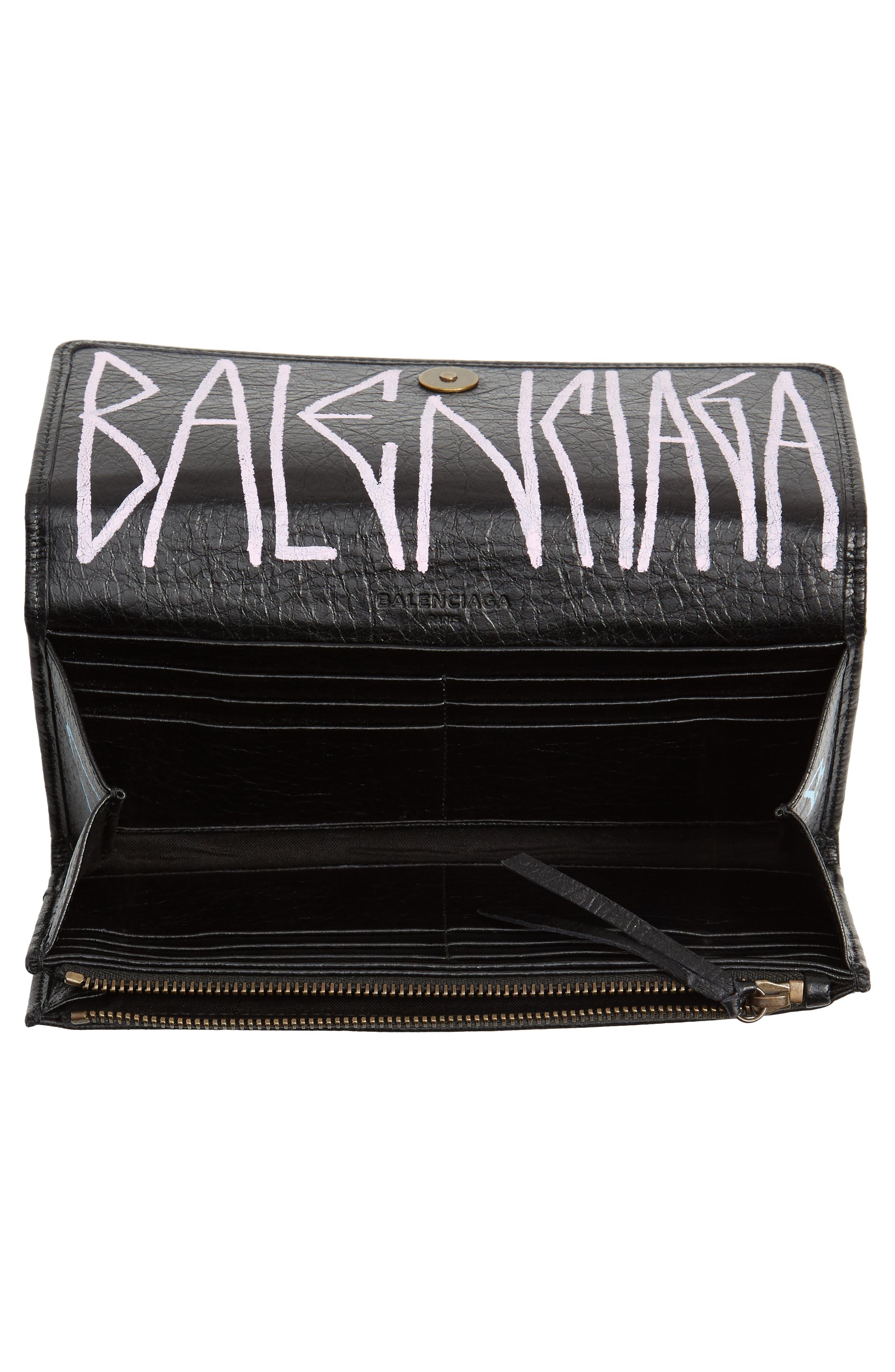 Alternate Image 2  - Balenciaga Classic Graffiti Leather Wallet