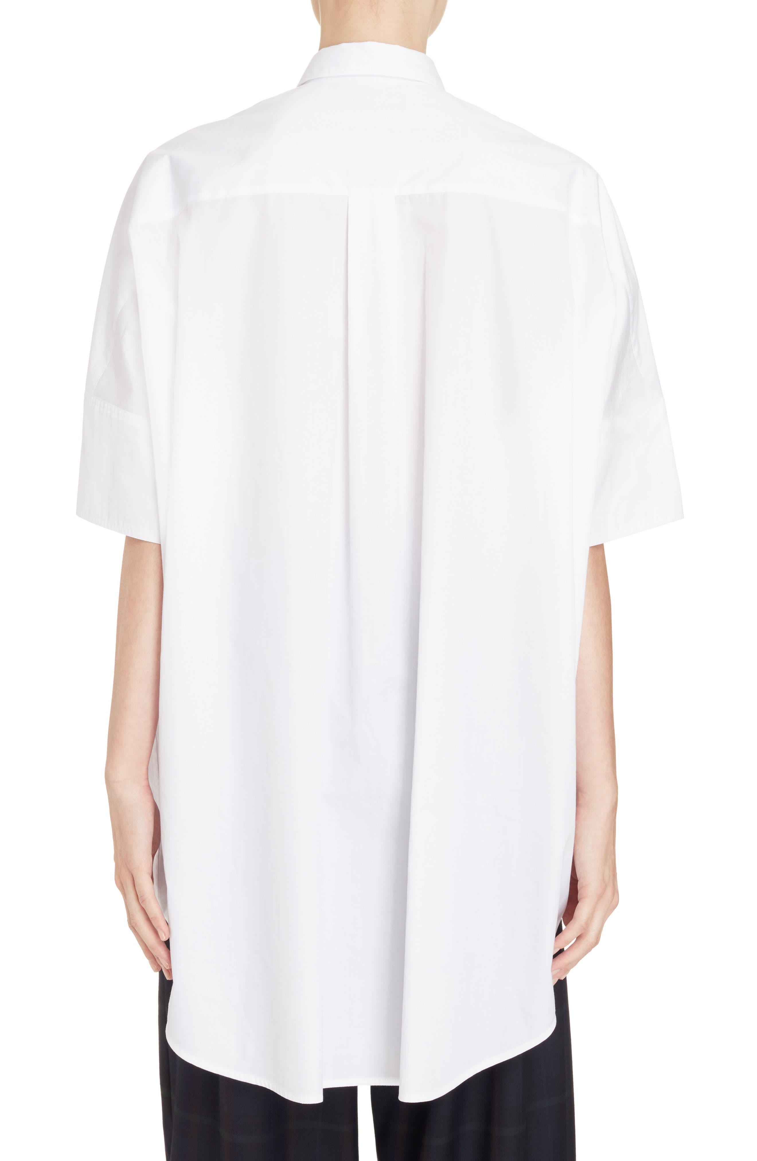 Alternate Image 2  - Y's by Yohji Yamamoto Oversize Drop Hem Shirt