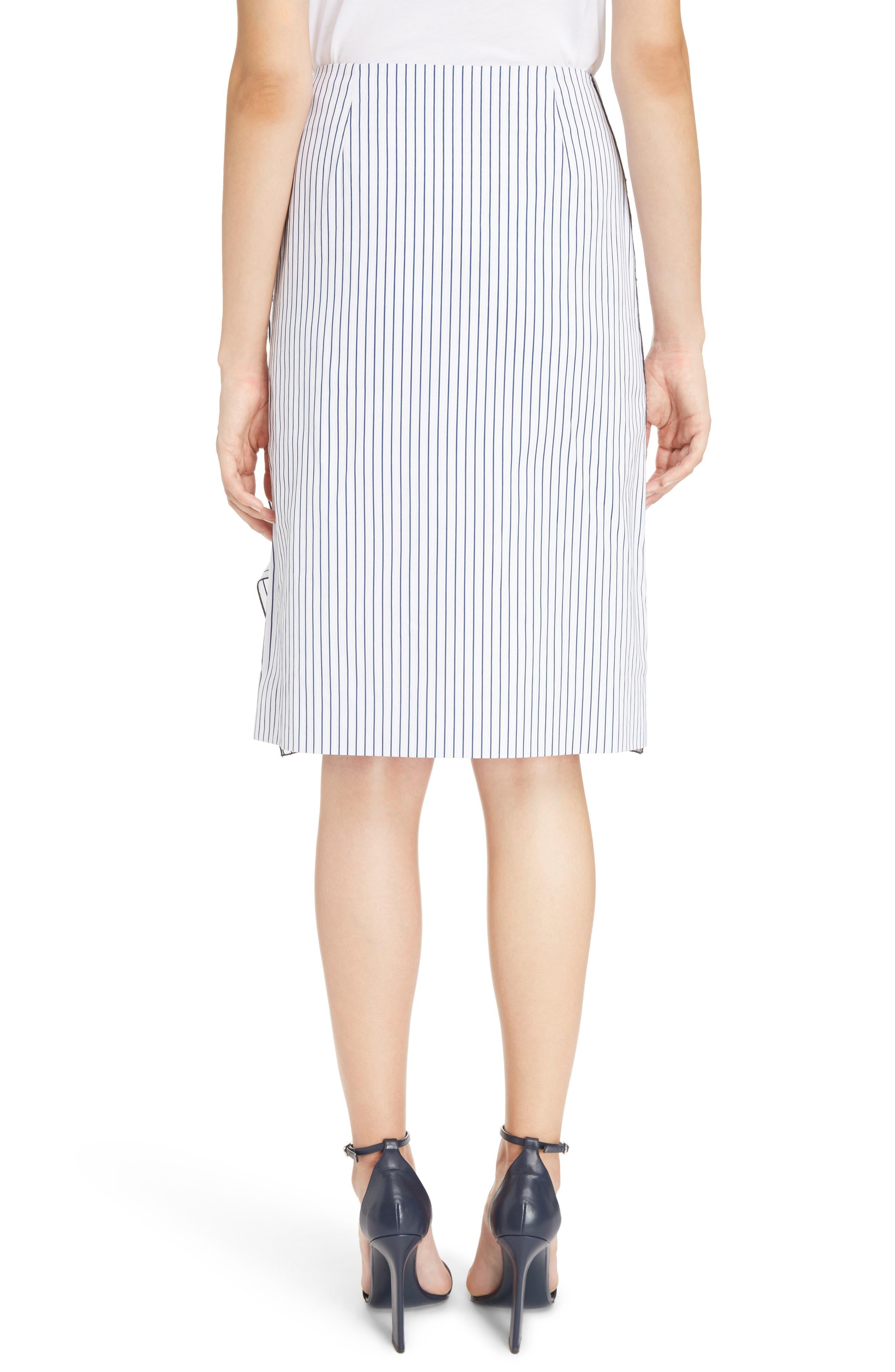 Alternate Image 2  - Victoria, Victoria Beckham Basket-Weave Pencil Skirt
