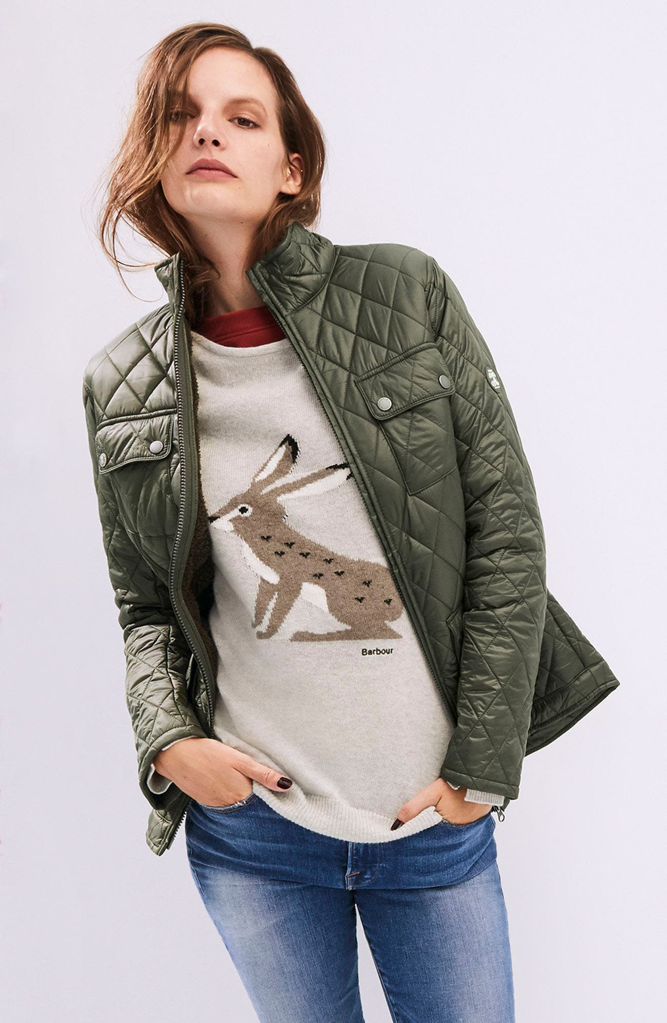 Filey Water Resistant Quilted Jacket,                             Alternate thumbnail 2, color,