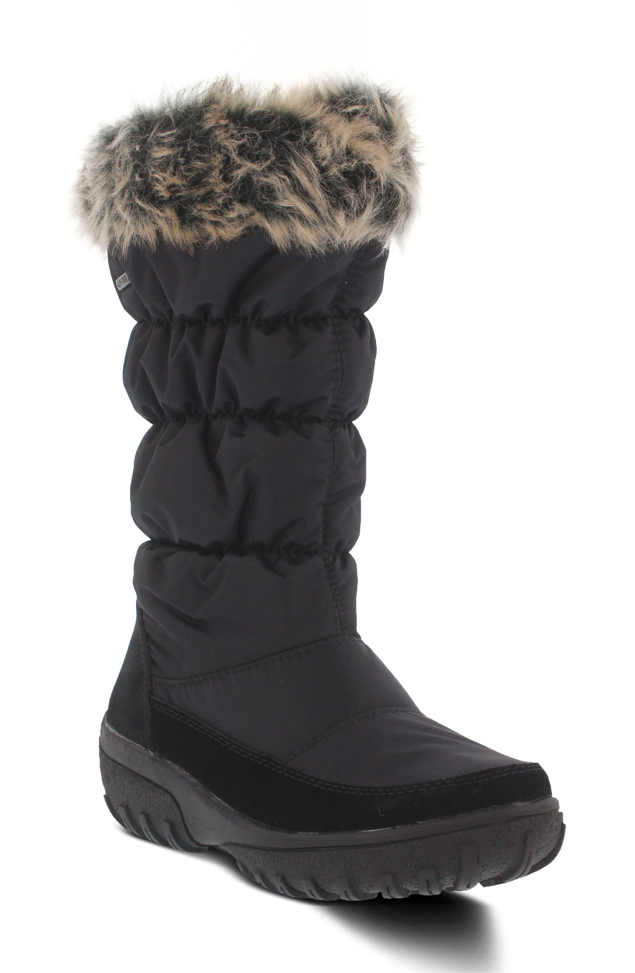 Spring Step Vanish Faux Fur Trim Waterproof Boot (Women)