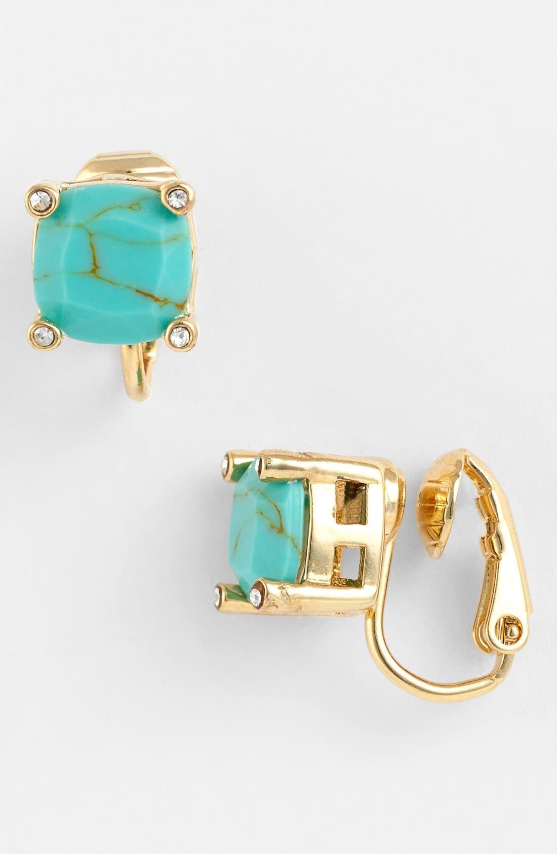 Alternate Image 1 Selected - Lauren Ralph Lauren Stone Clip Earrings