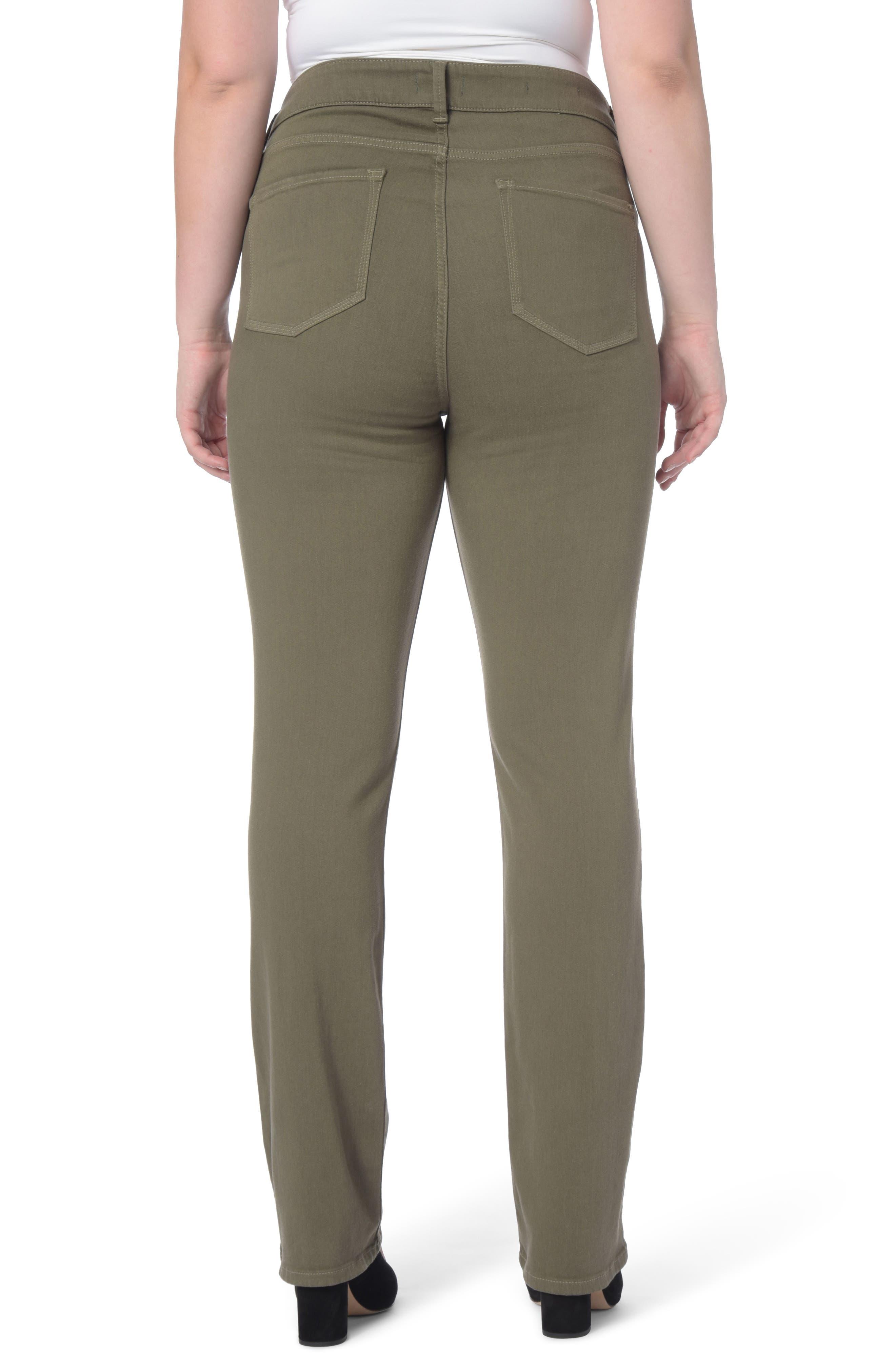 Alternate Image 2  - NYDJ Marilyn Stretch Straight Leg Jeans (Plus Size)