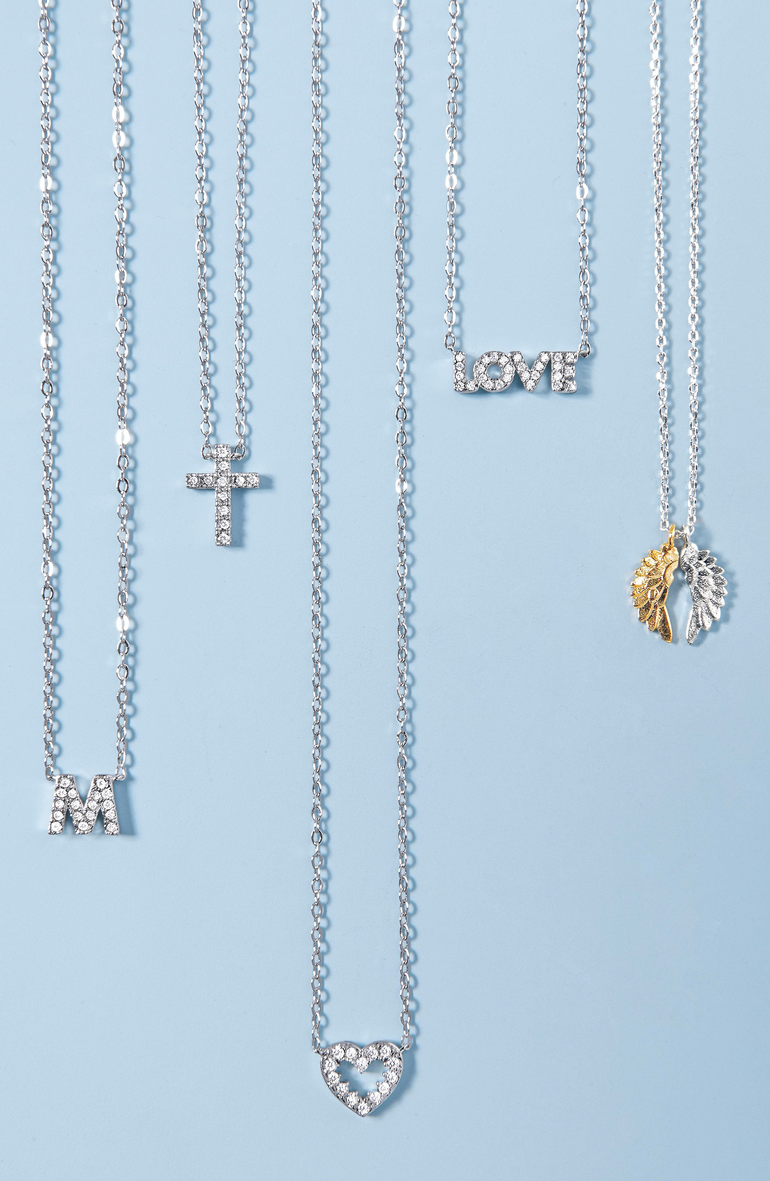 Sentimental Love Pendant Necklace,                             Alternate thumbnail 3, color,