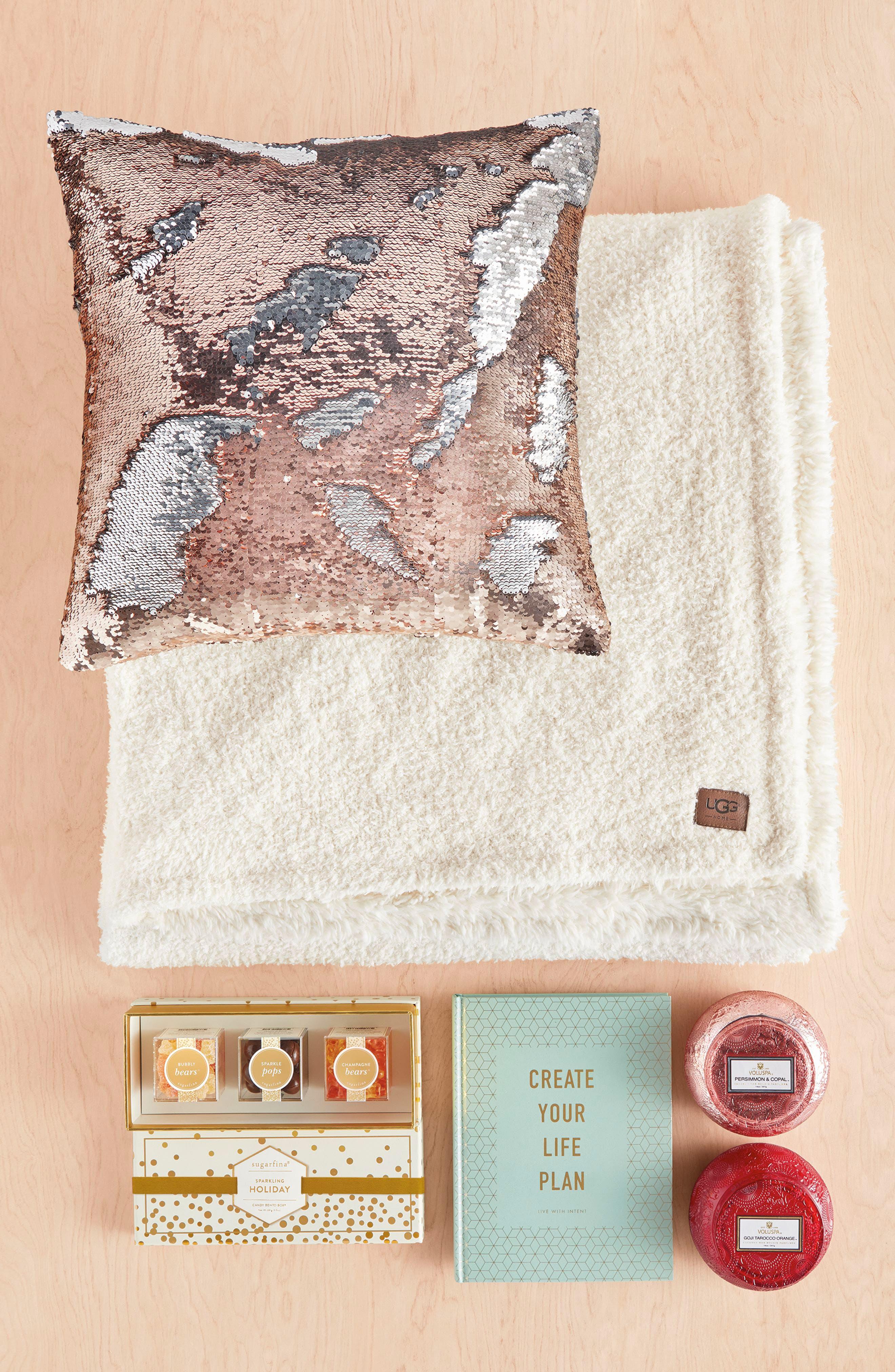Sequin Pillow,                             Alternate thumbnail 4, color,