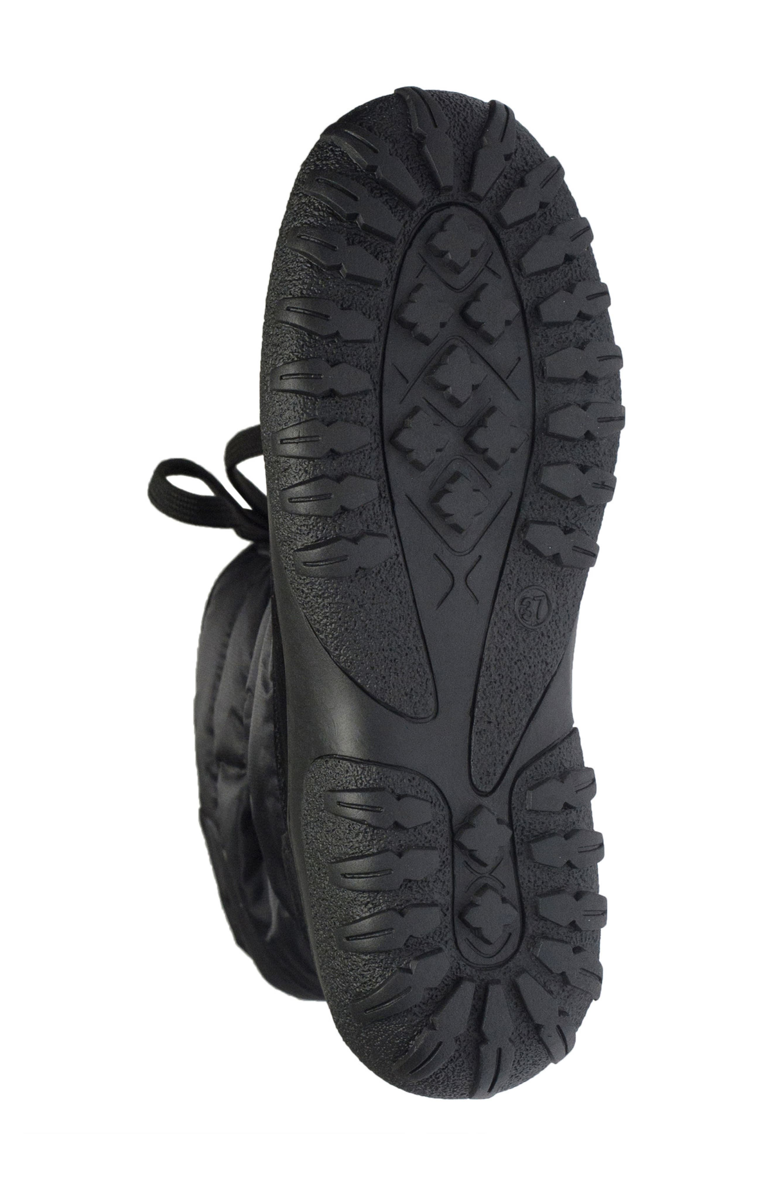 Lucerne Waterproof Drawstring Boot,                             Alternate thumbnail 5, color,                             Black