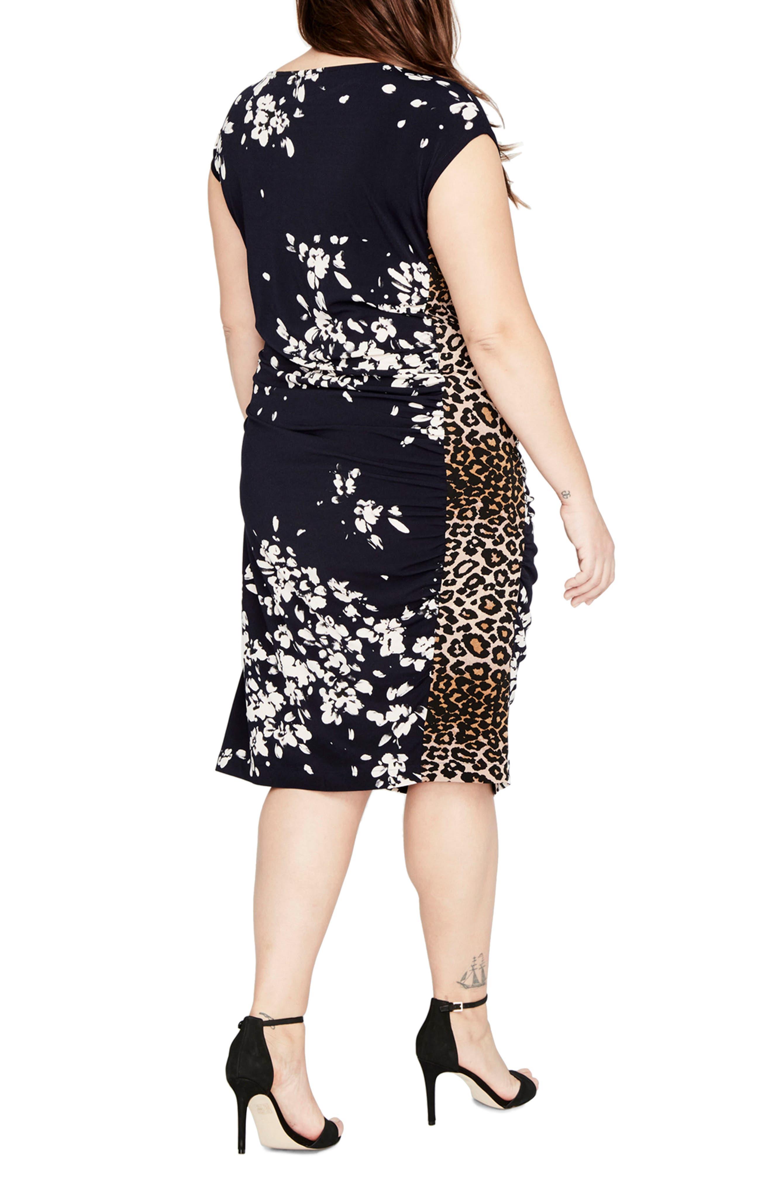 Alternate Image 2  - RACHEL BY Rachel Roy Asymmetrical Floral Dress (Plus Size)