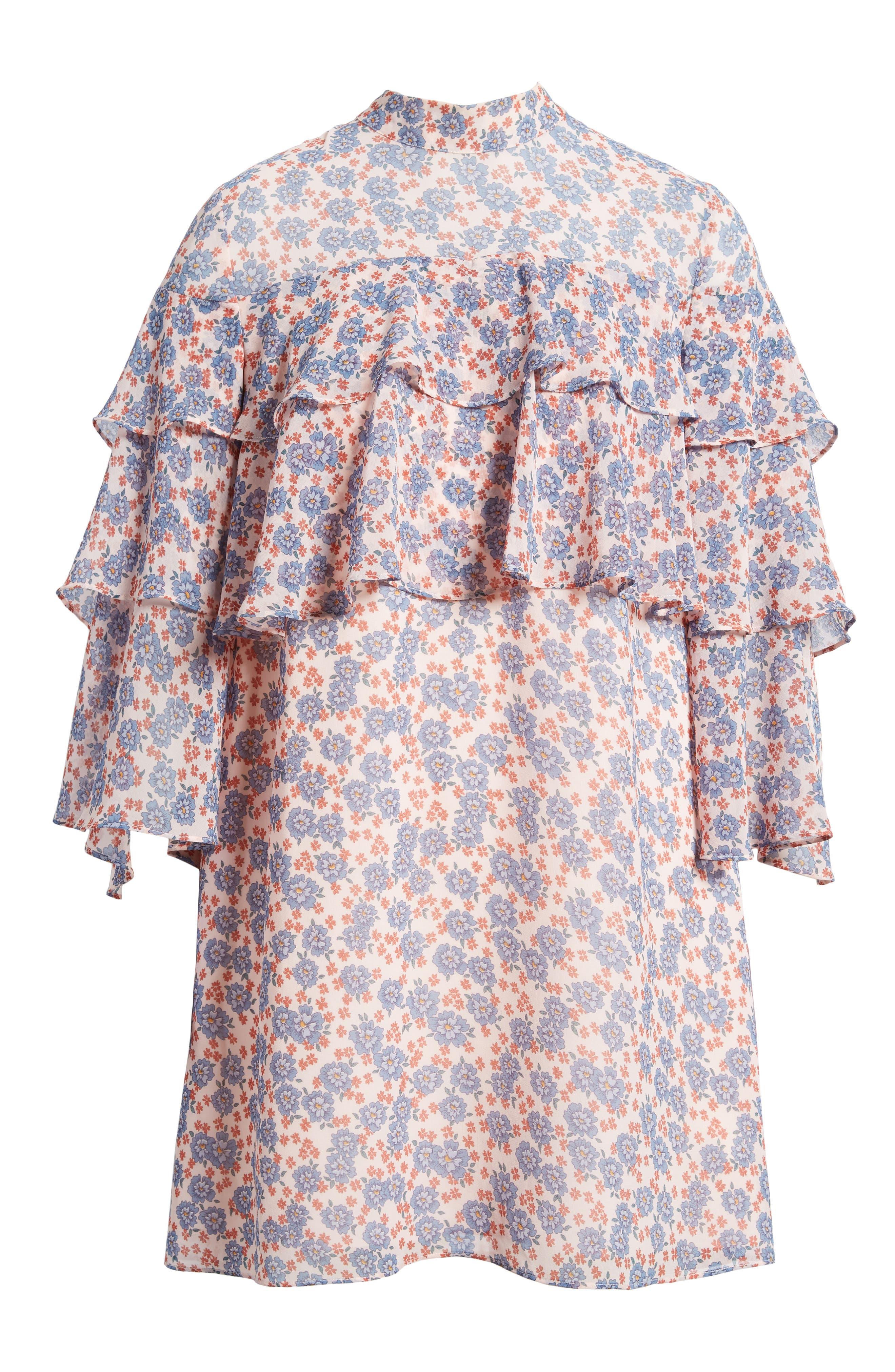 Darcy Ruffle Dress,                             Alternate thumbnail 6, color,                             Pink Multi