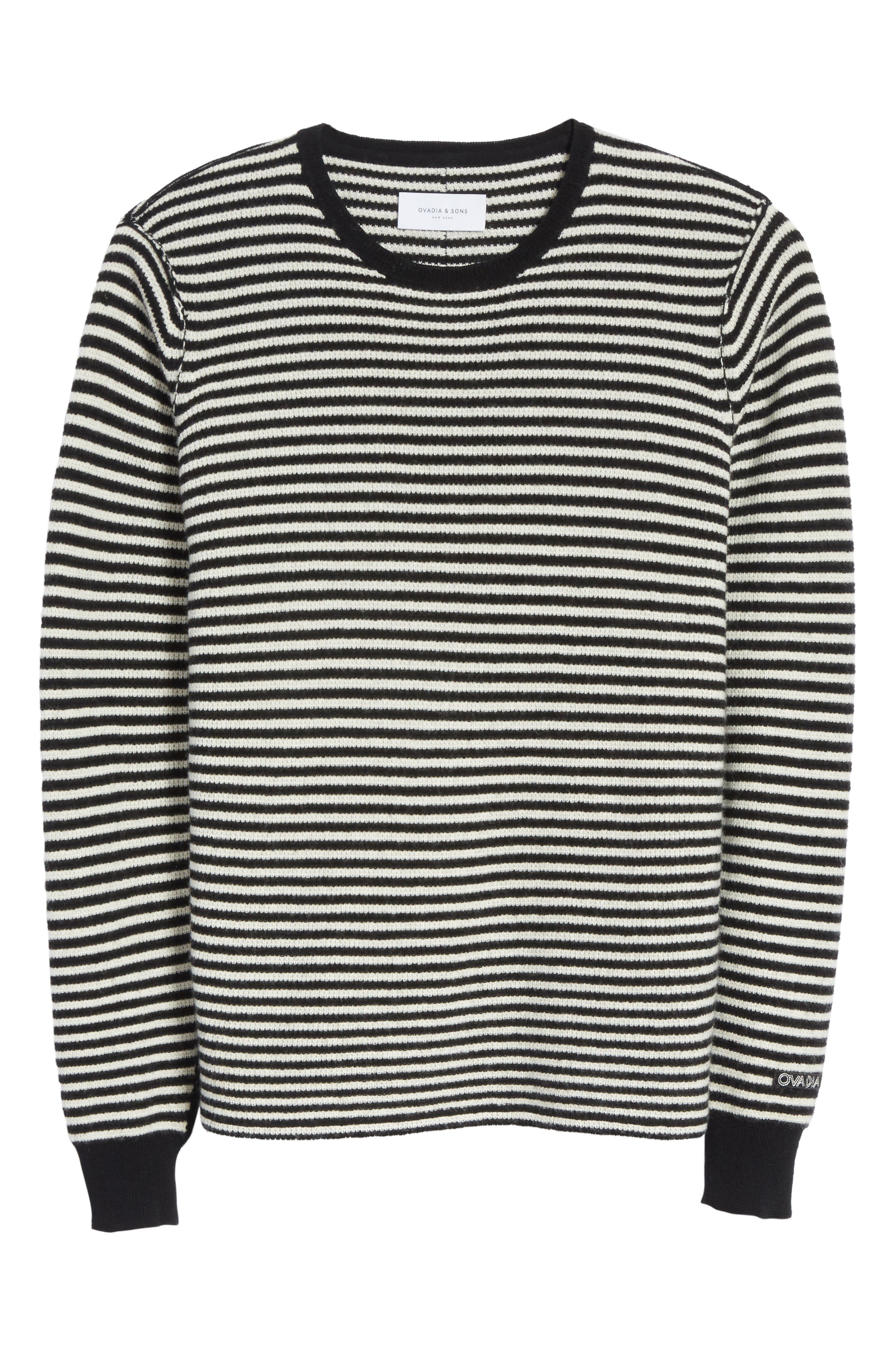 Alternate Image 6  - Ovadia & Sons Stripe Waffle Knit Wool Sweater