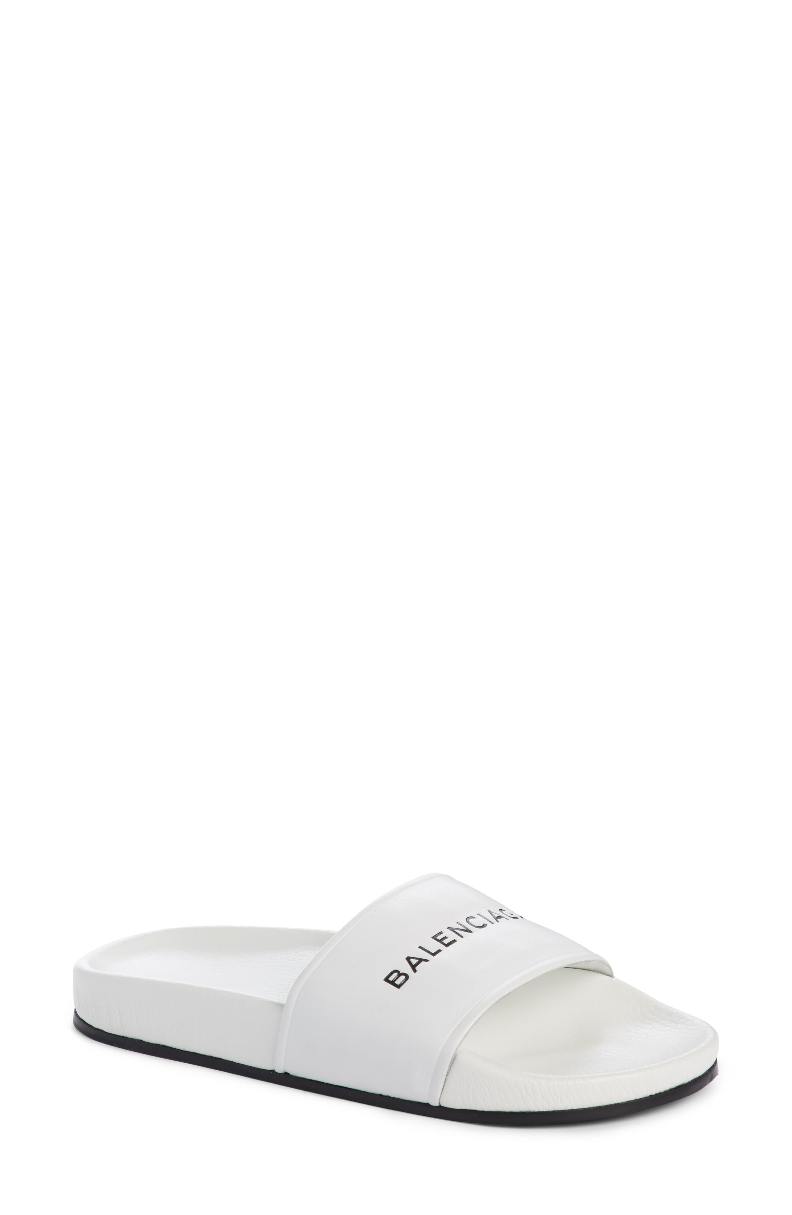 Balenciaga Logo Slide Sandal (Women)