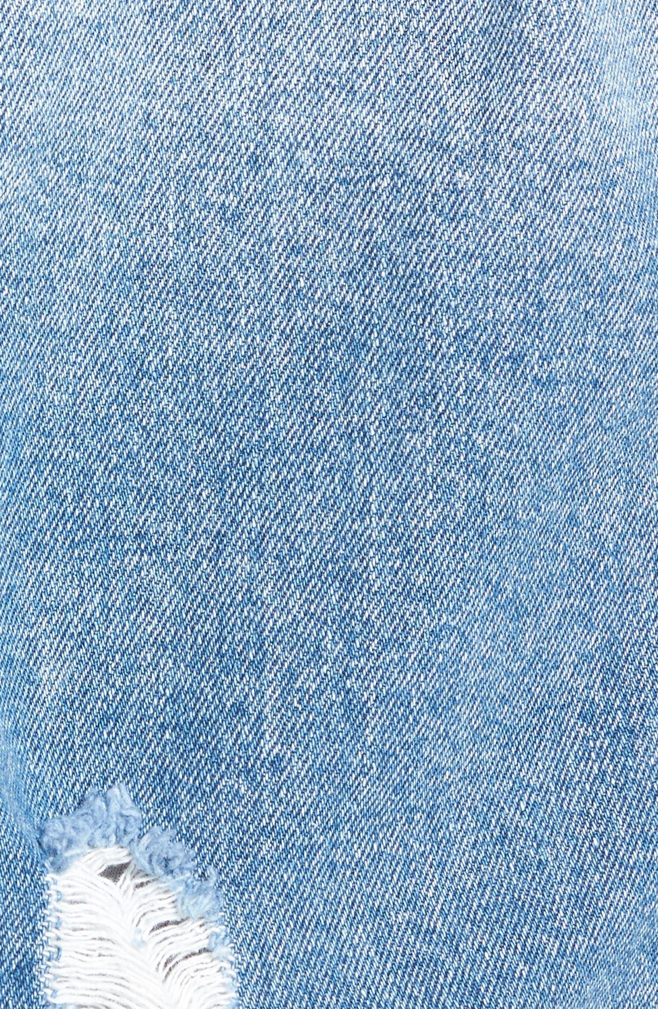 Alternate Image 5  - MOON RIVER Distressed Denim Jacket