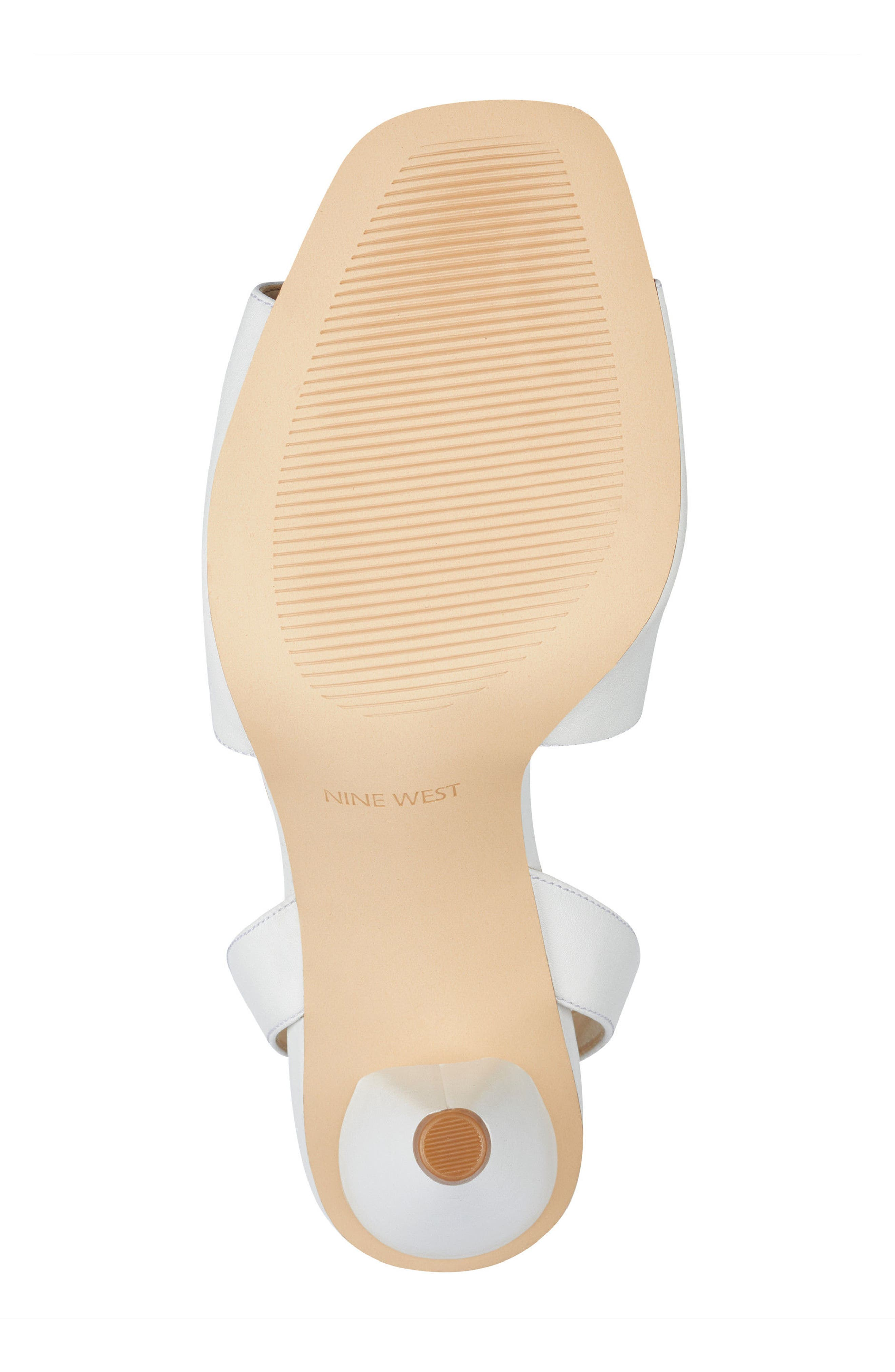 Quilty Ankle Strap Sandal,                             Alternate thumbnail 6, color,                             White Leather