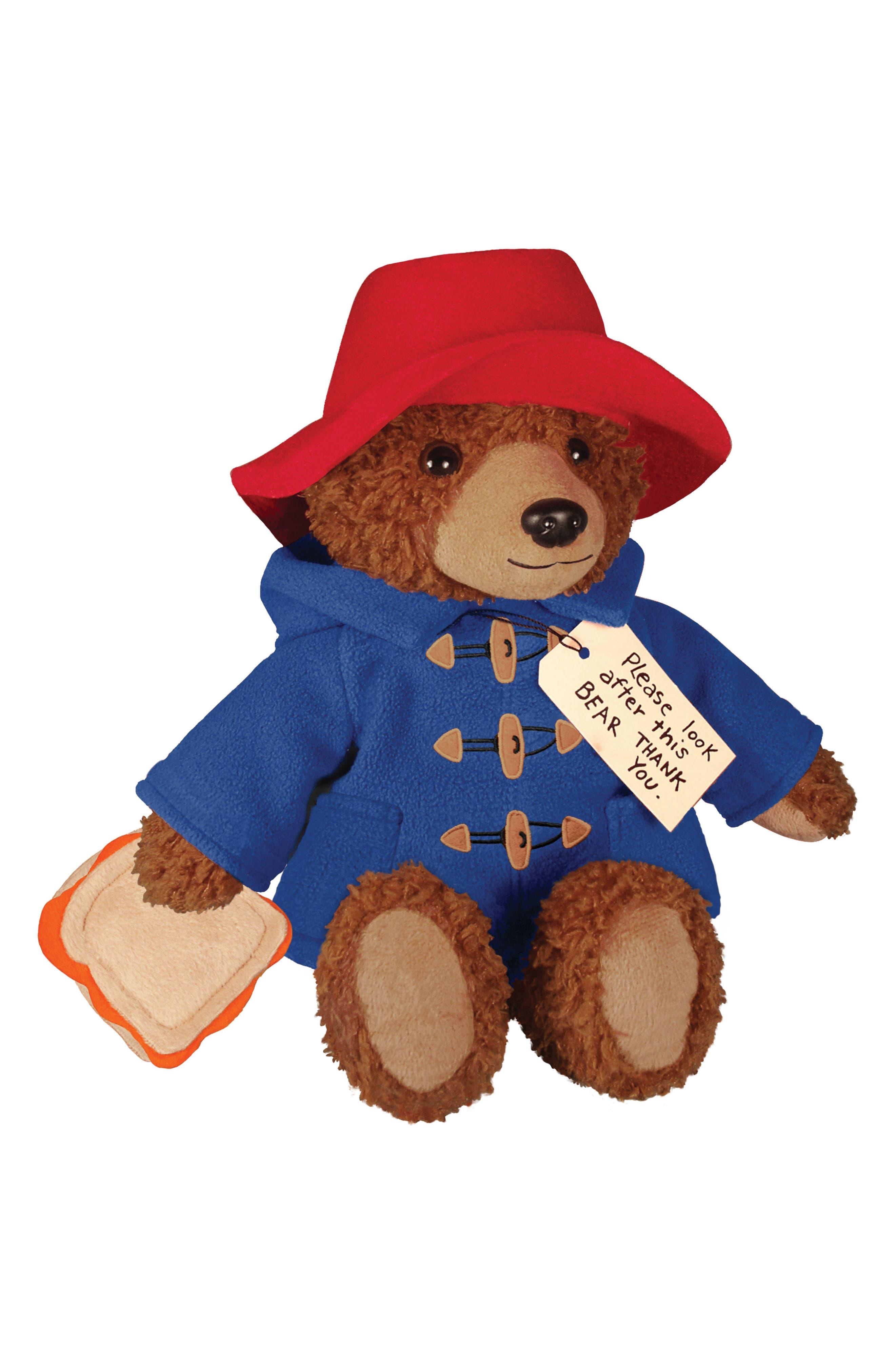 Paddington Bear Stuffed Animal,                             Main thumbnail 1, color,                             Blue