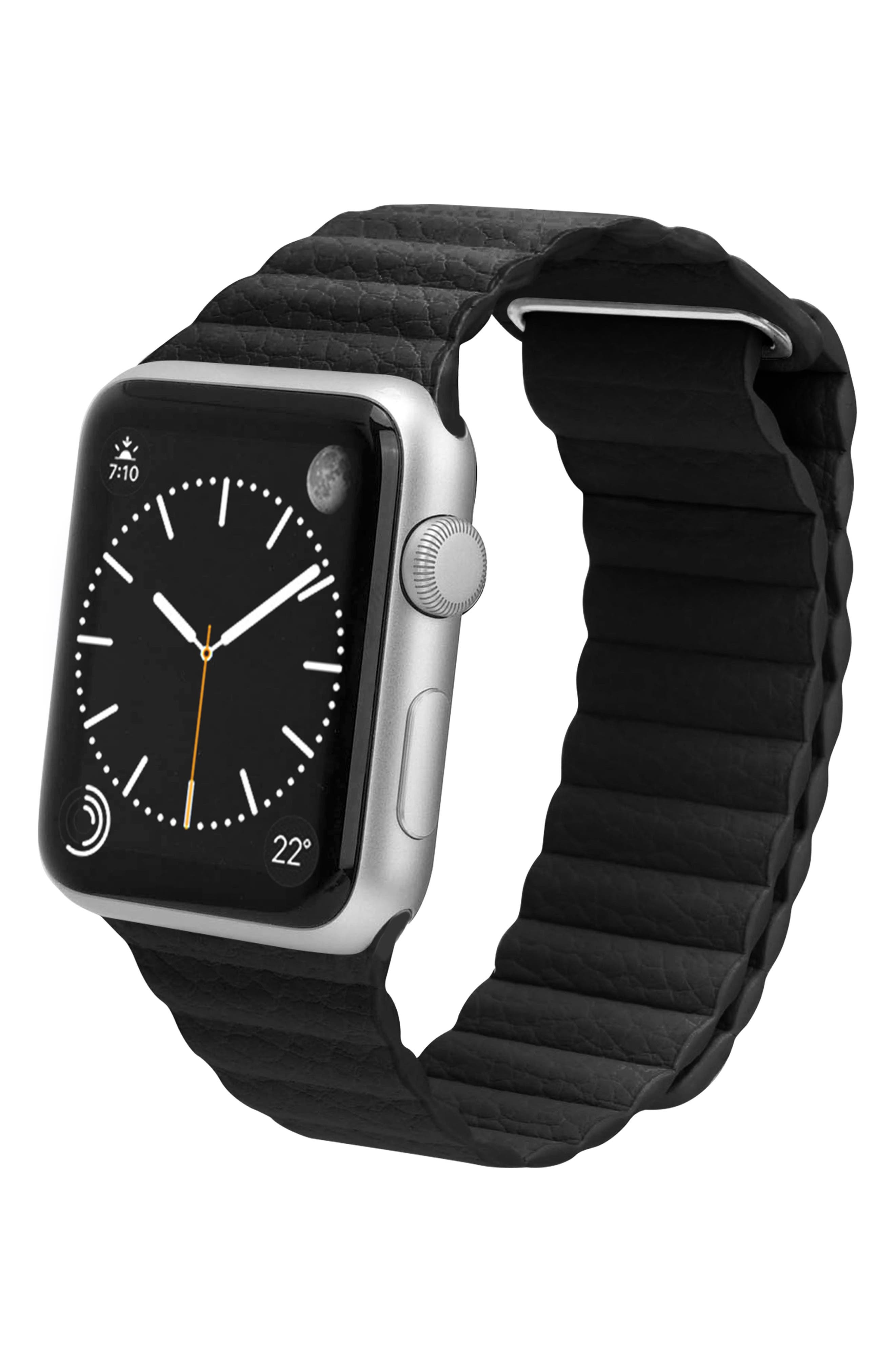Magnetic Apple Watch Strap, 28mm,                             Alternate thumbnail 4, color,                             Black