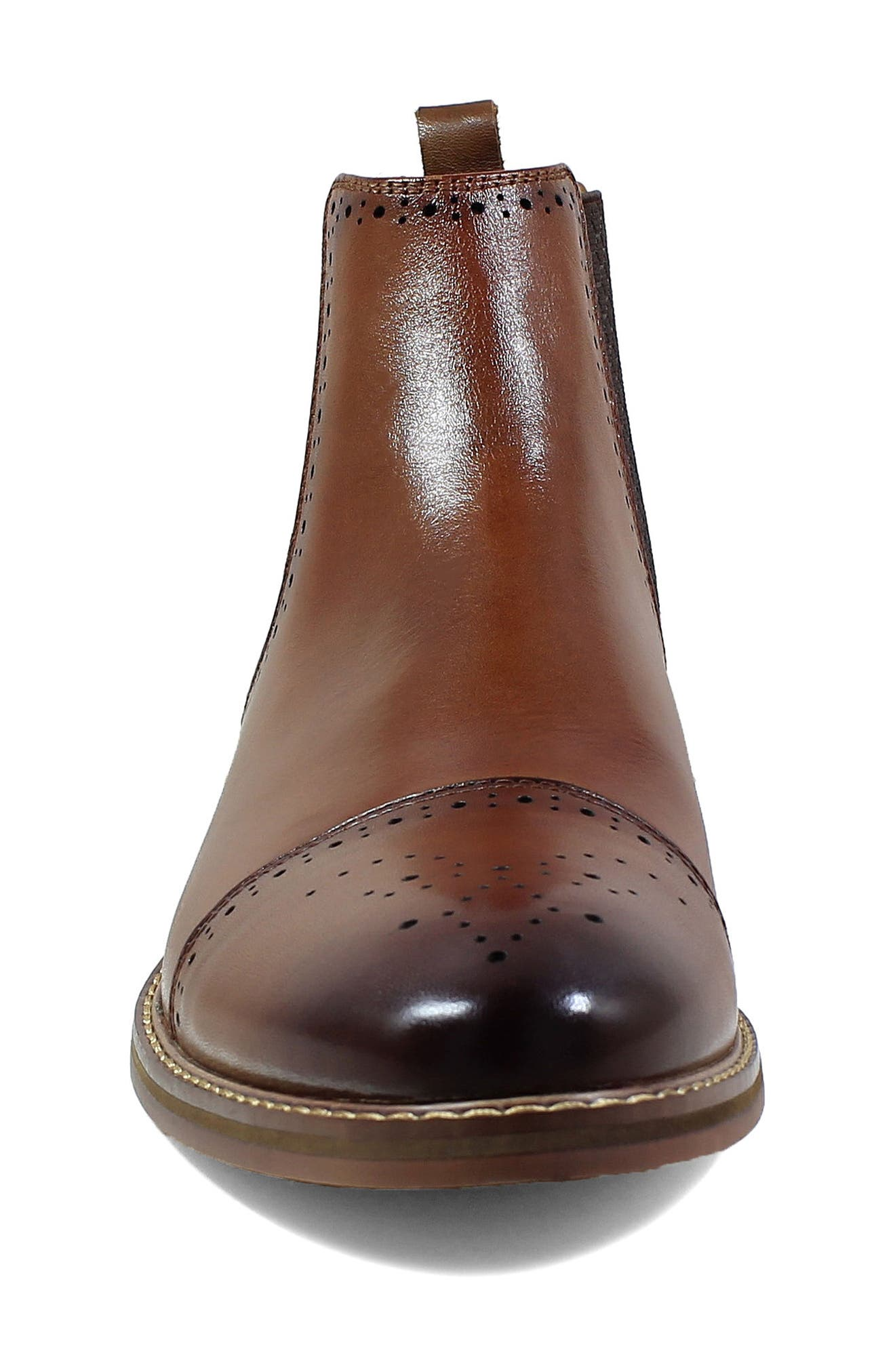 Alomar Chelsea Boot,                             Alternate thumbnail 4, color,                             Cognac Leather