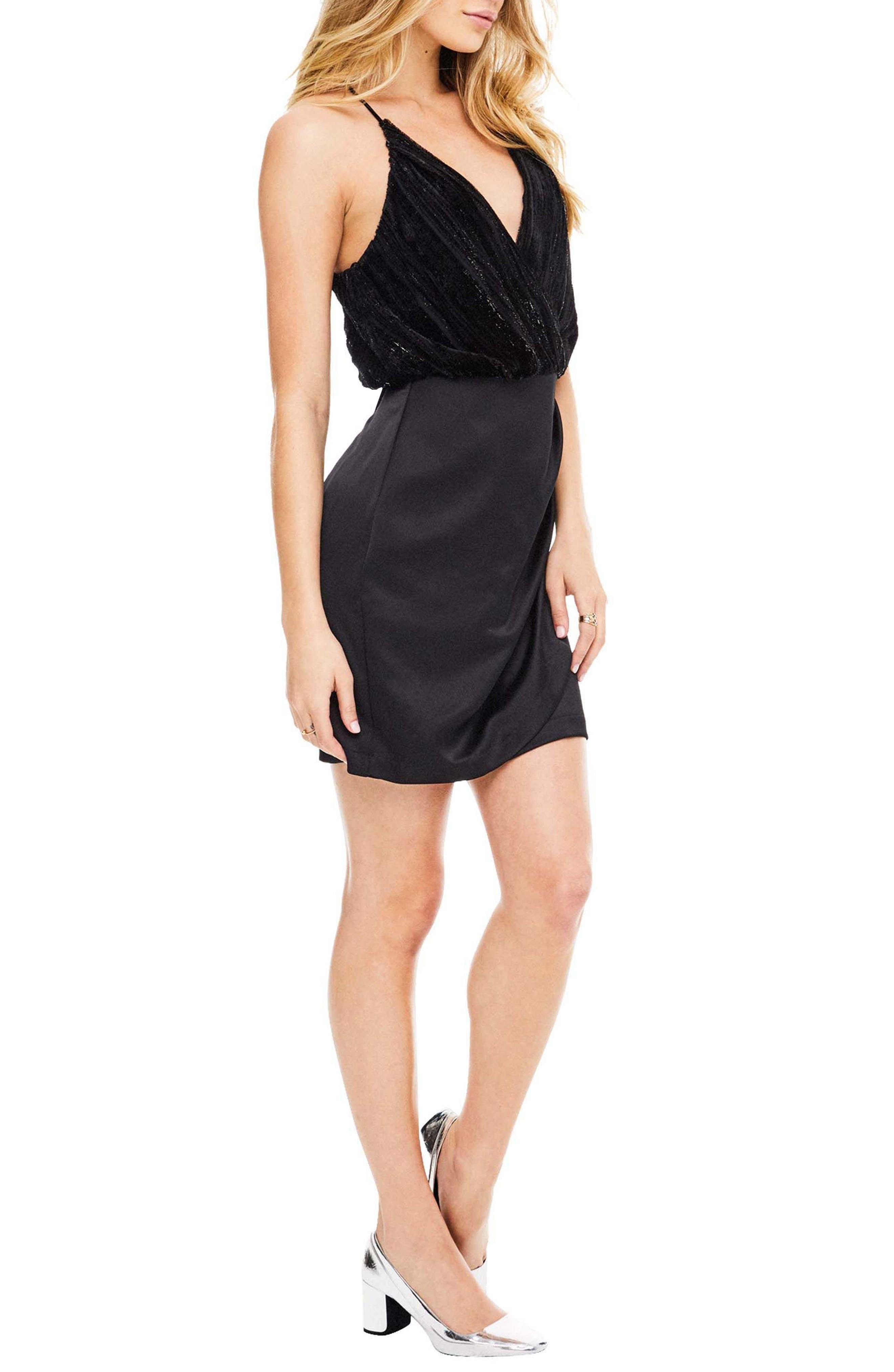 Callie Dress,                             Alternate thumbnail 3, color,                             Black Velvet Stripe