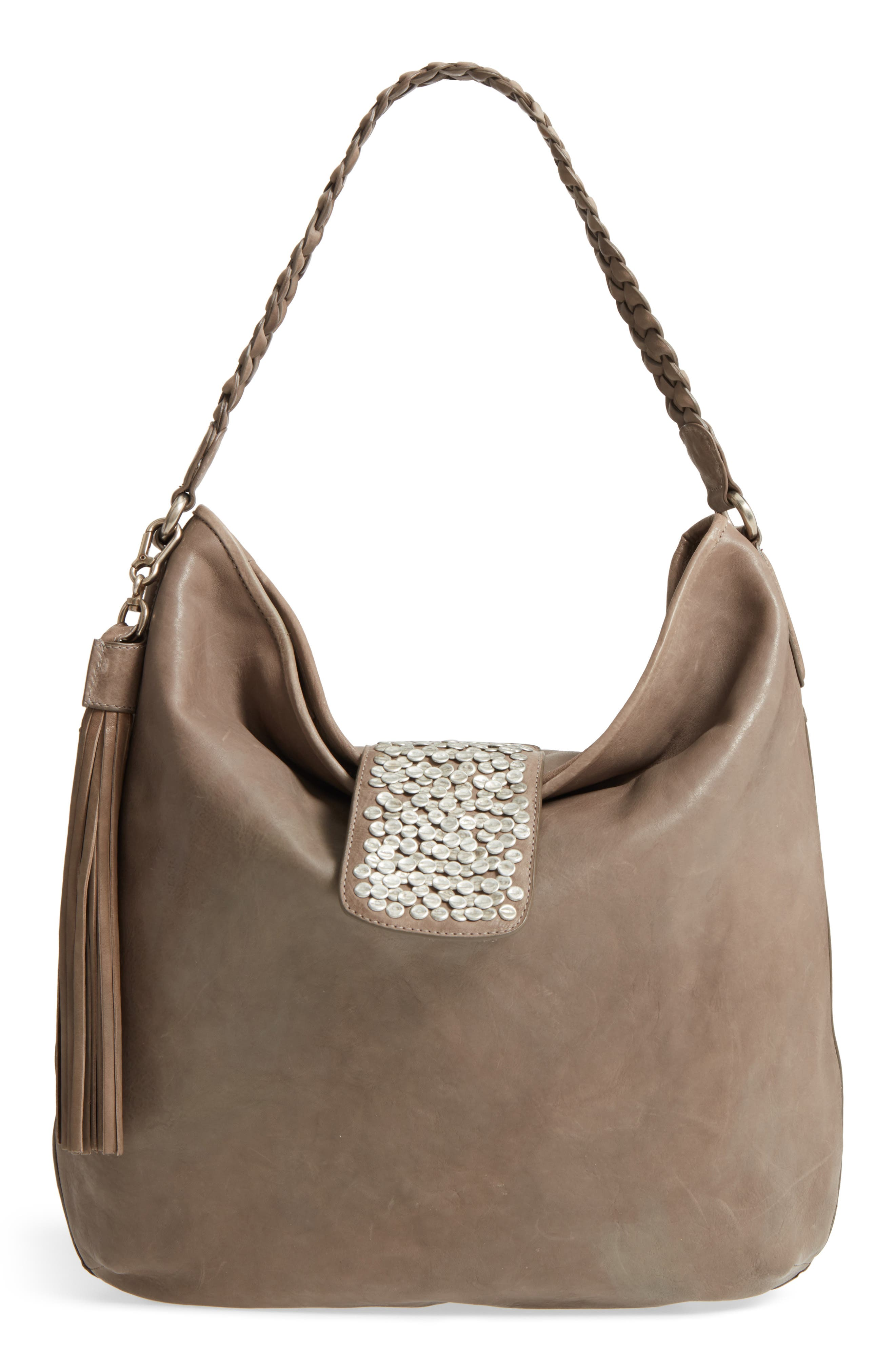Céline Dion Cadence Leather Hobo Bag
