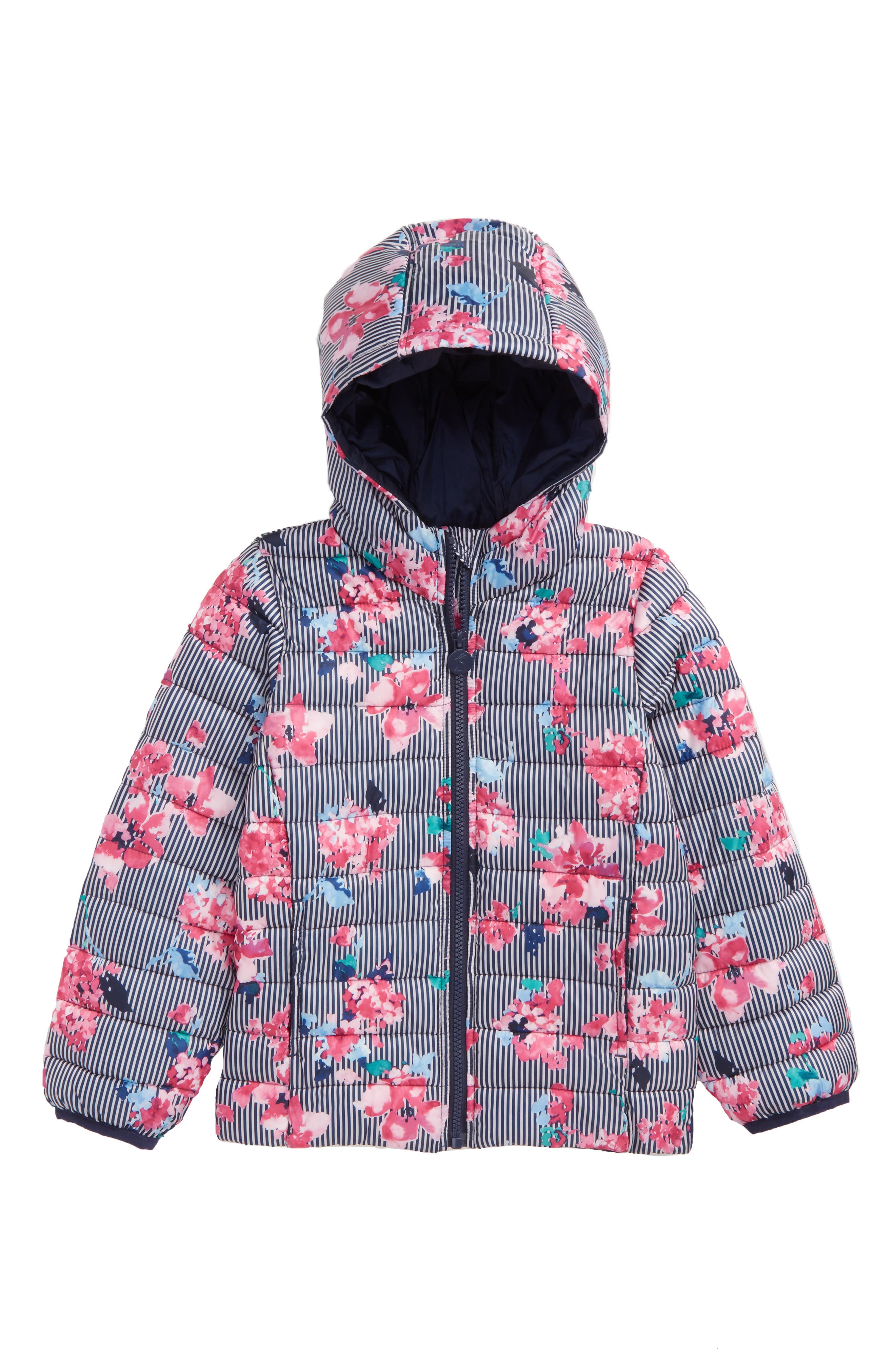 Joules Packaway Hooded Jacket (Toddler Girls & Little Girls)
