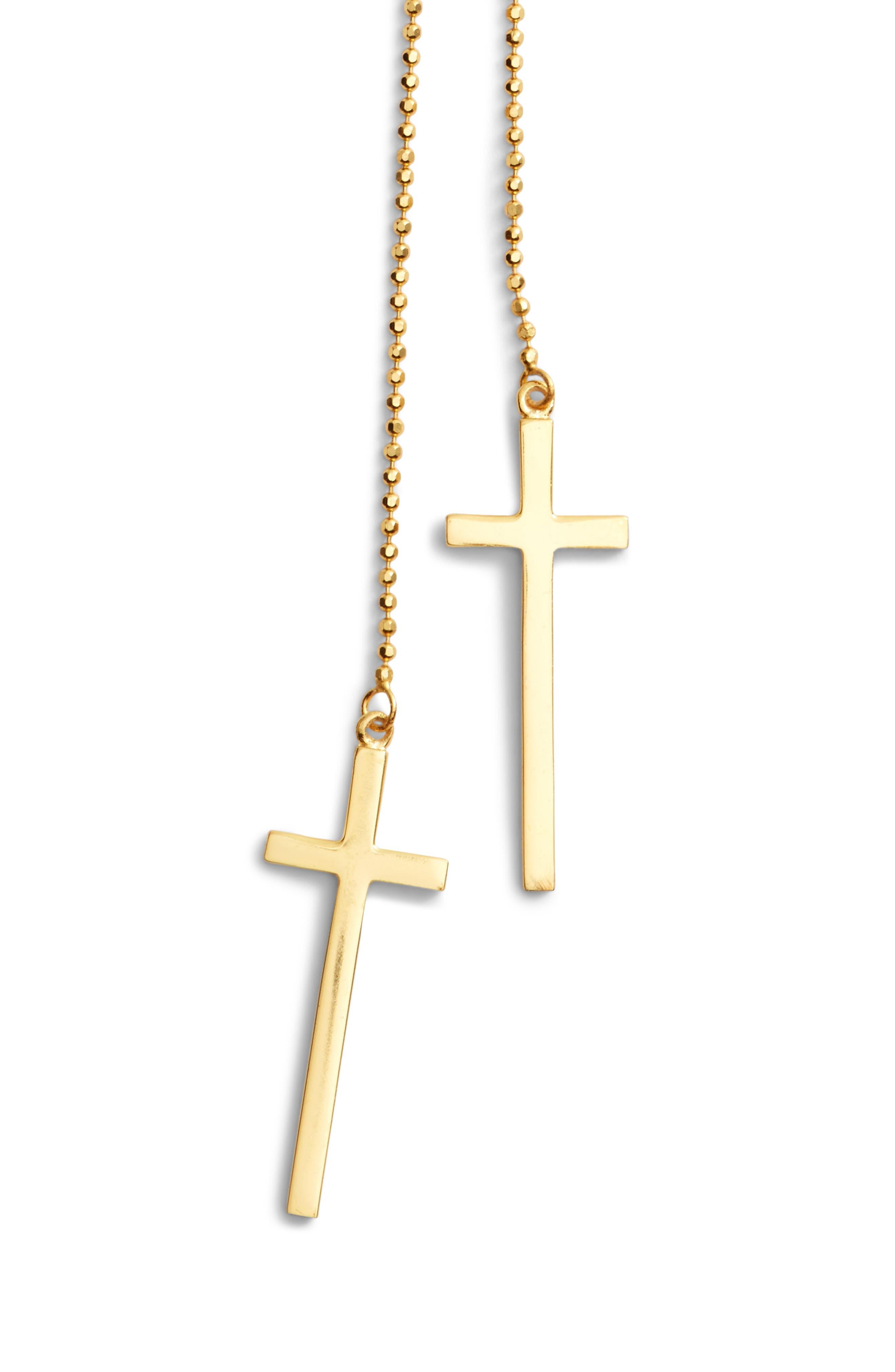 Alternate Image 2  - Argento Vivo Modern Cross Lariat Necklace