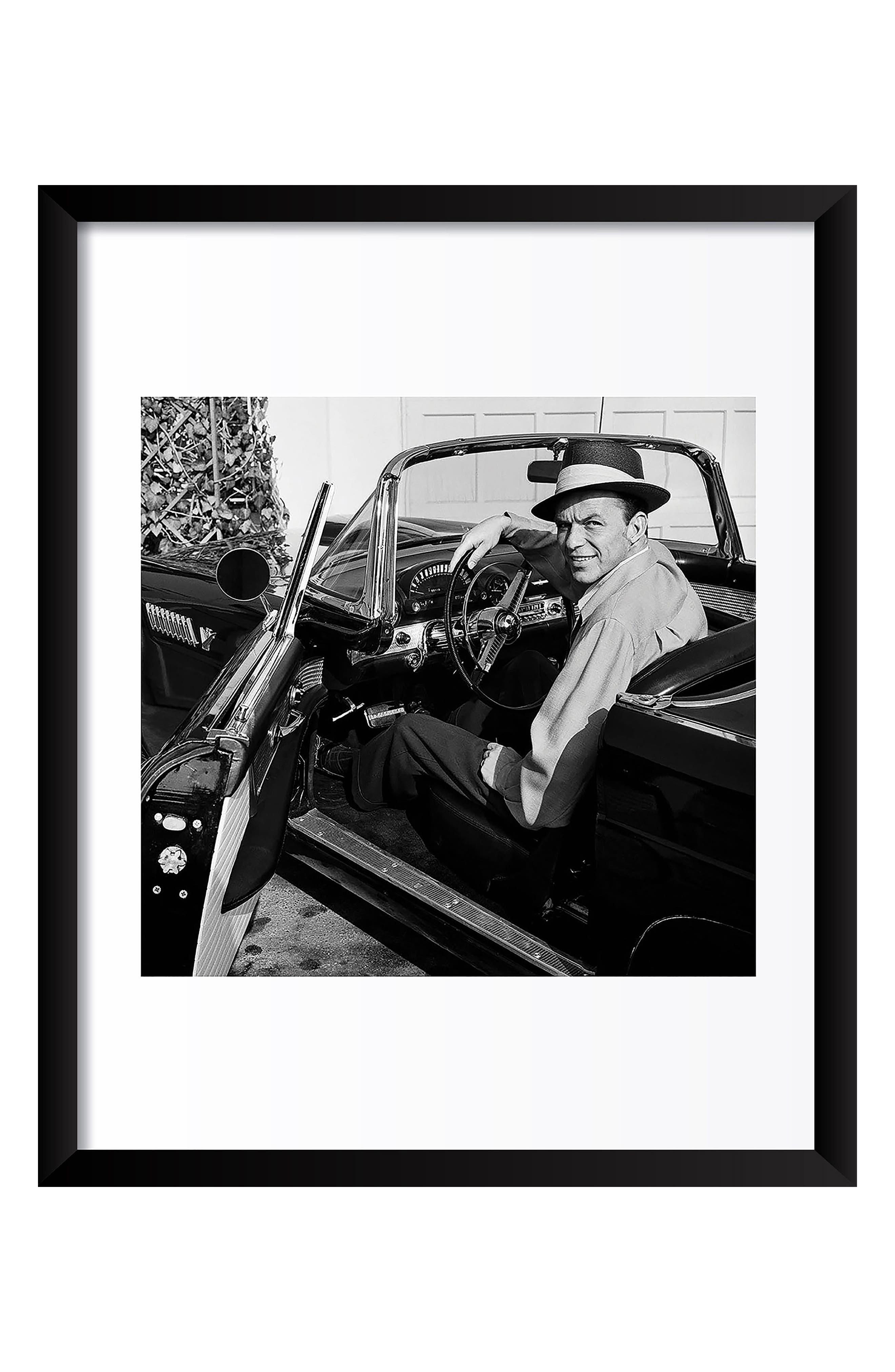 Frank Sinatra Fine Art Print,                             Main thumbnail 1, color,                             Black