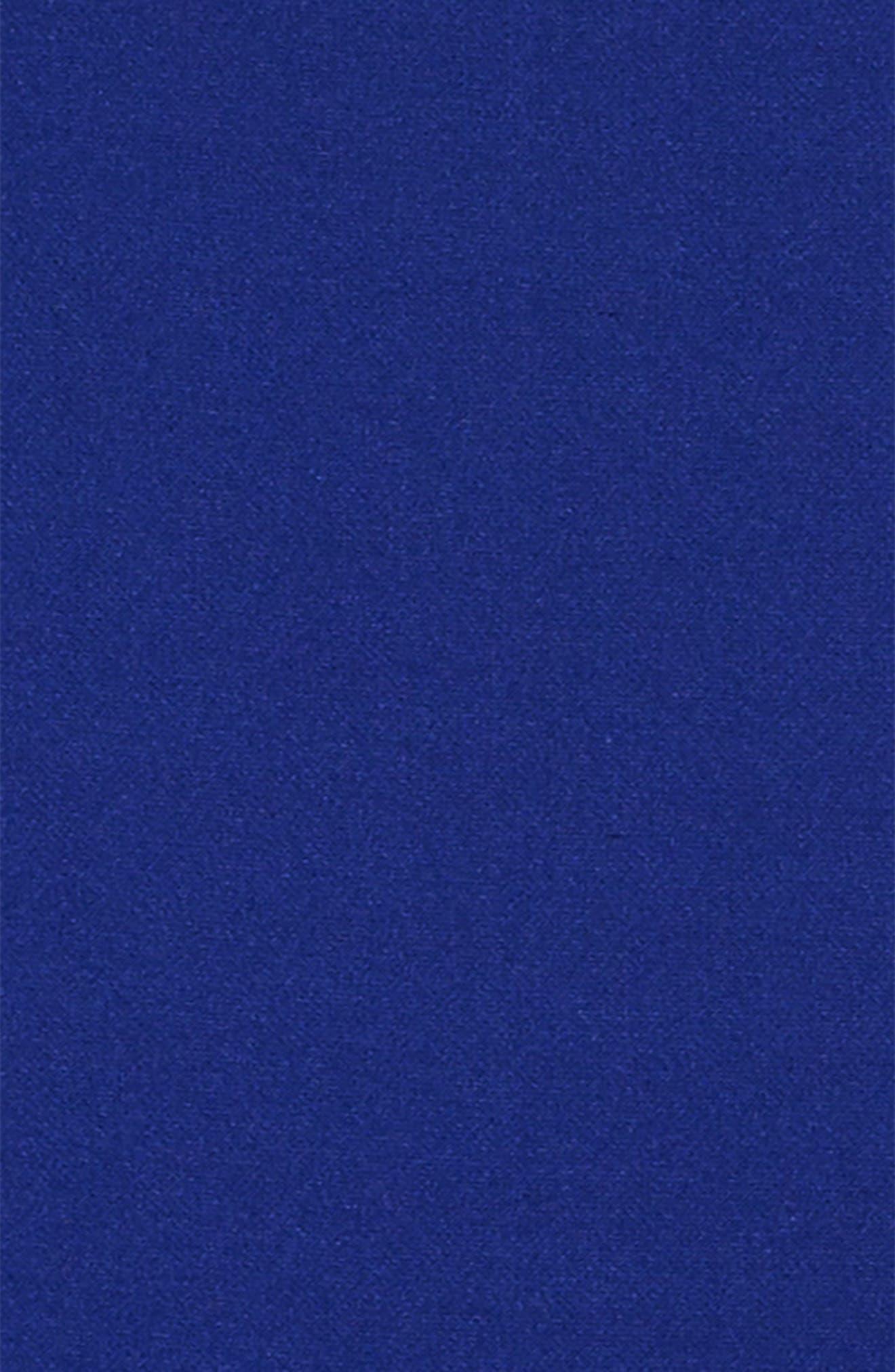Cap Sleeve Skater Dress,                             Alternate thumbnail 3, color,                             Cobalt