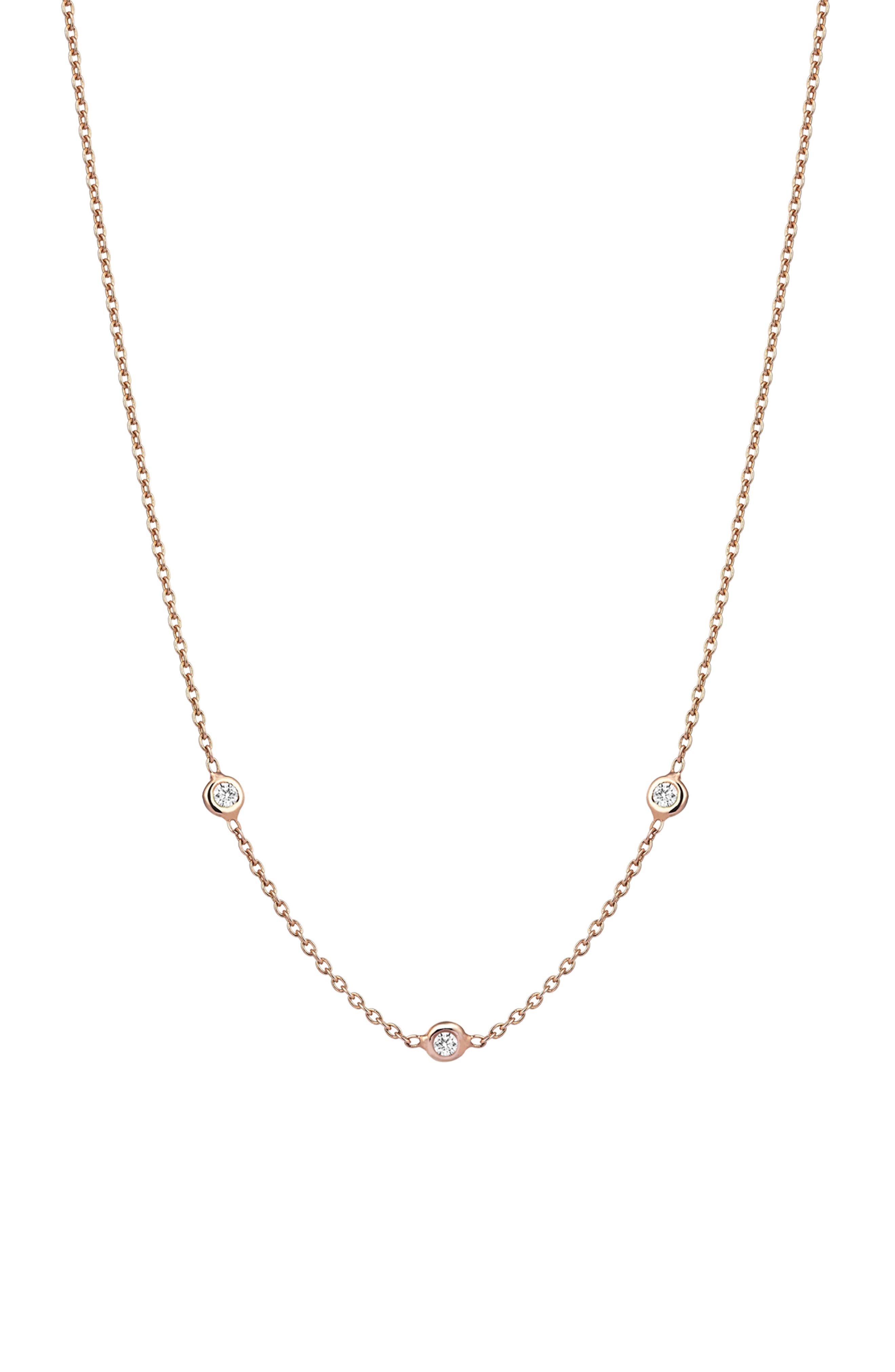 Kismet by Milka Solitaire Diamond Necklace