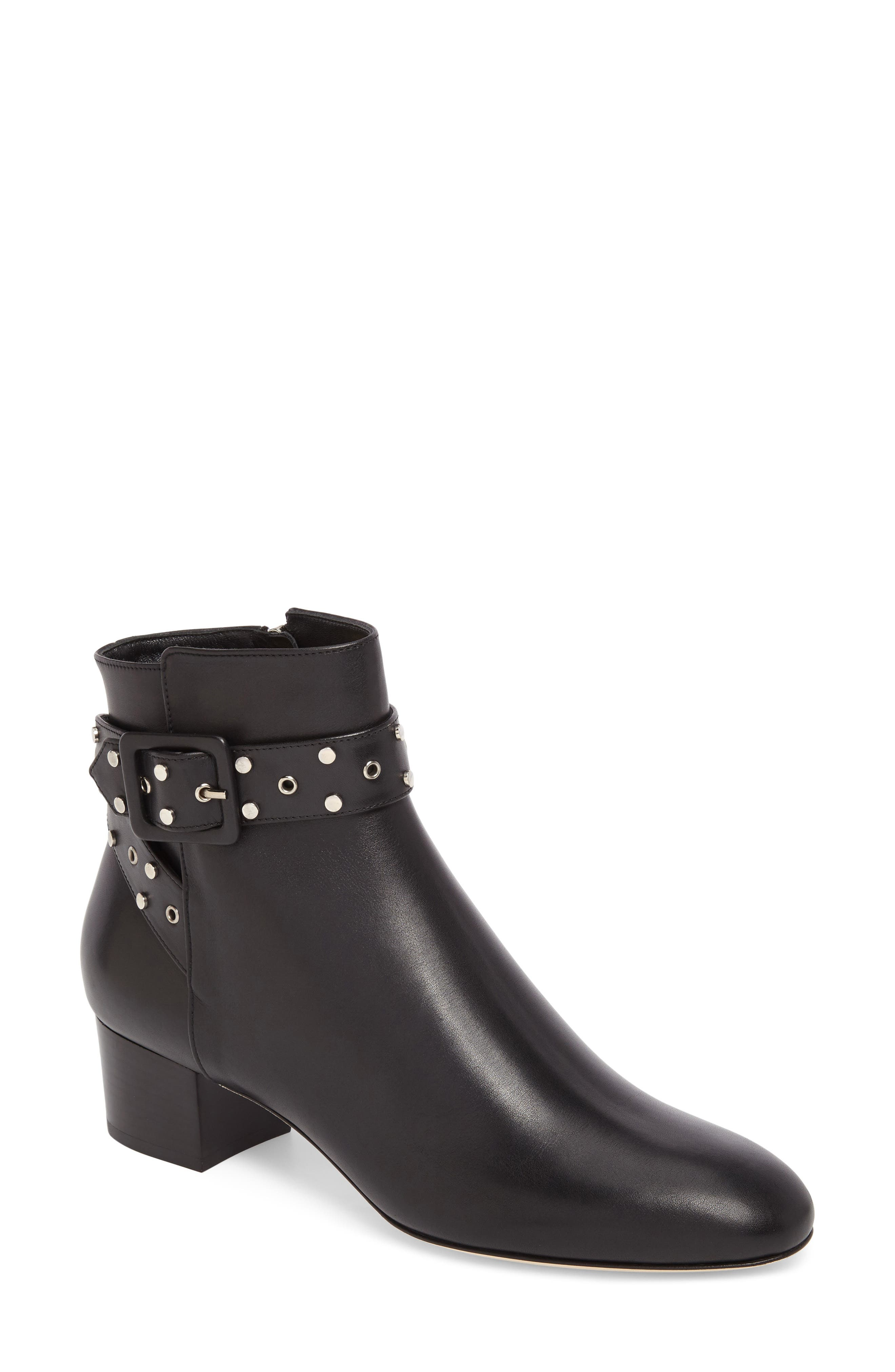 Jimmy Choo Hallie Buckle Bootie (Women)