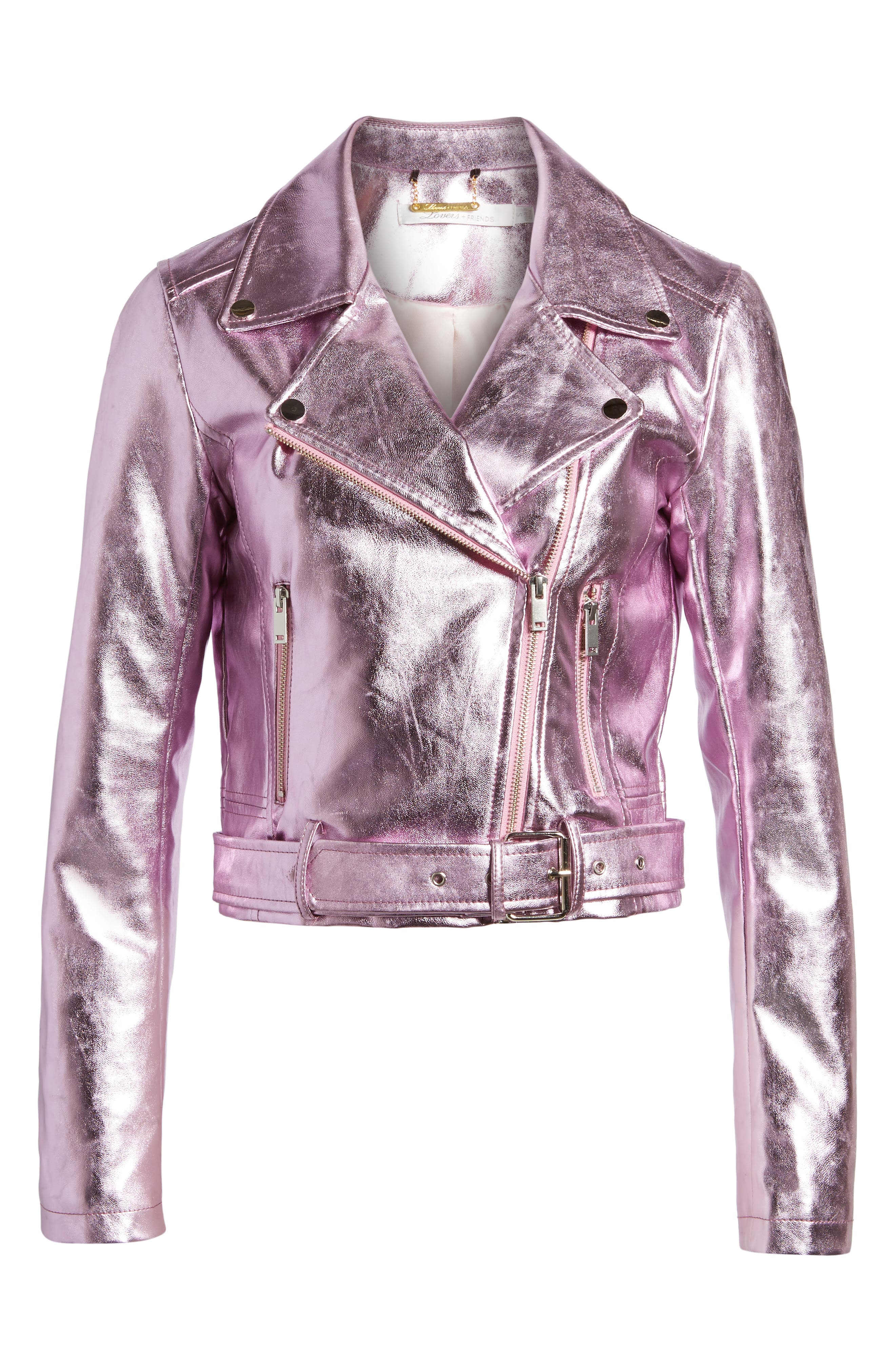 Grant Metallic Jacket,                             Alternate thumbnail 6, color,                             Candy