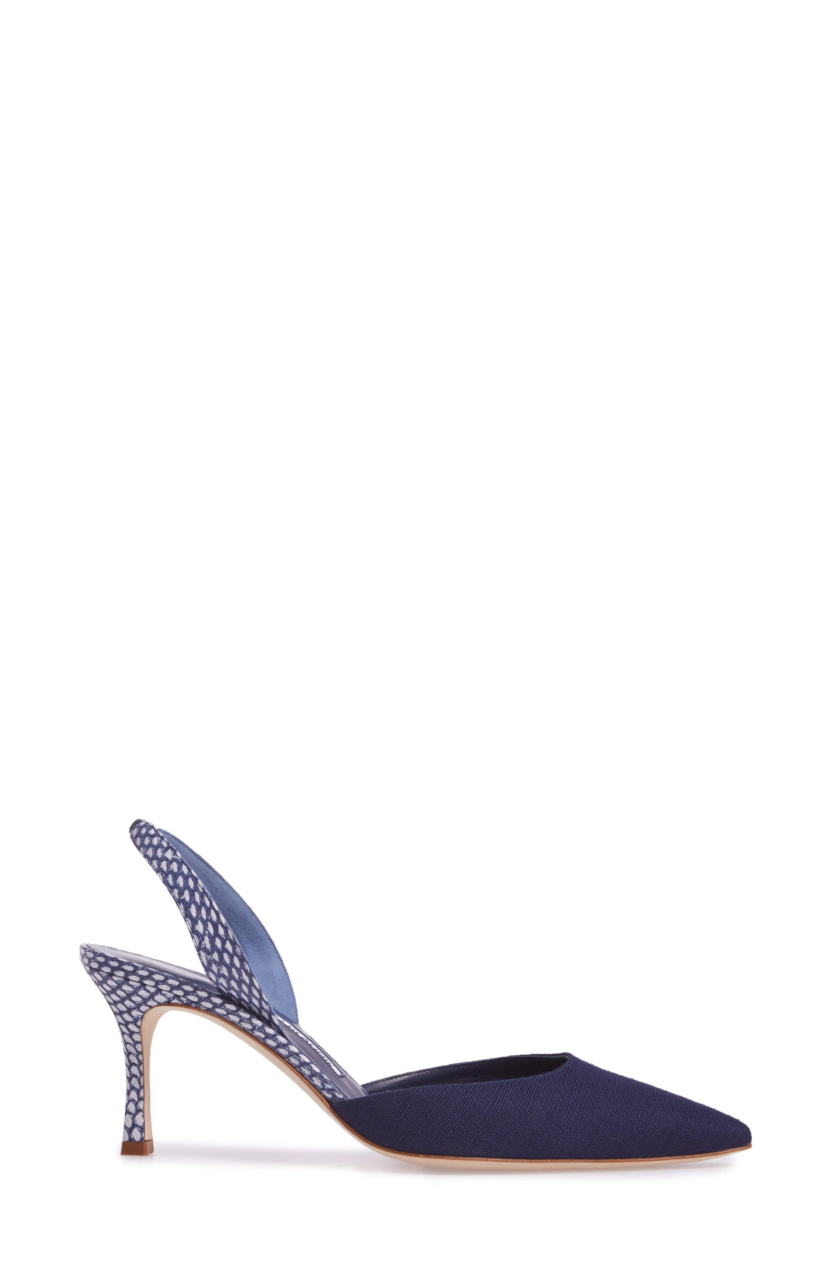 Carolyne Slingback Pump,                             Alternate thumbnail 3, color,                             Navy
