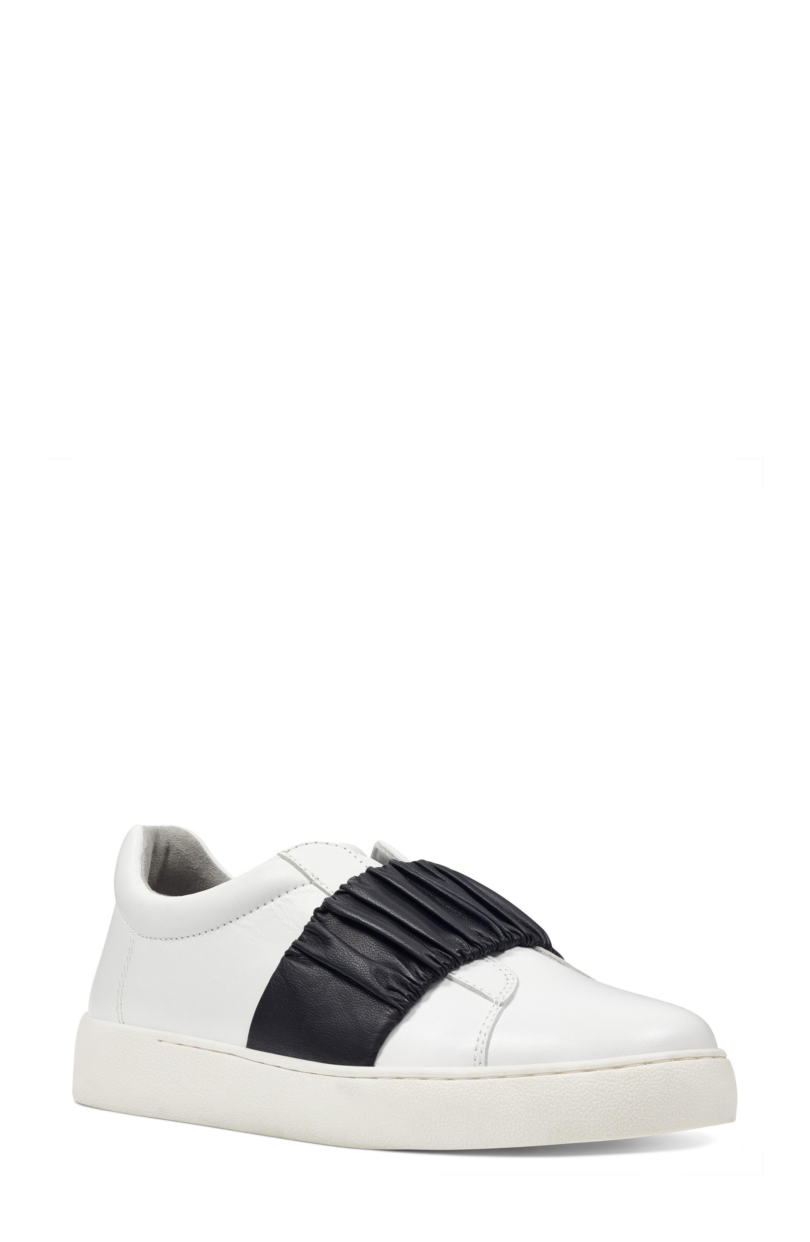Pindiviah Slip-On Sneaker,                             Main thumbnail 1, color,                             White/ Black Leather